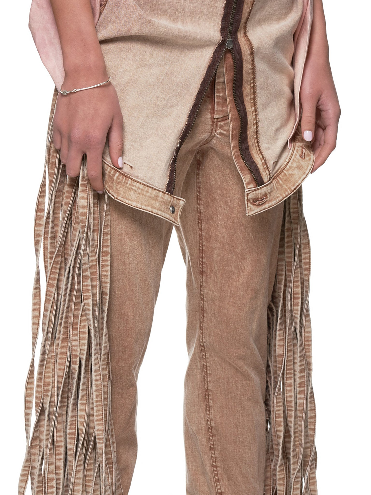 Fringe Jeans (JFSS19P01-BROWN)