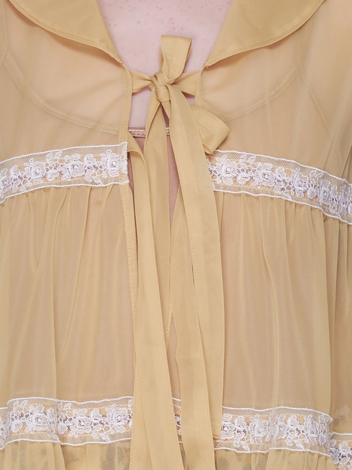 Ruffled Lace Wrap (JFSS21D04-YELLOW)