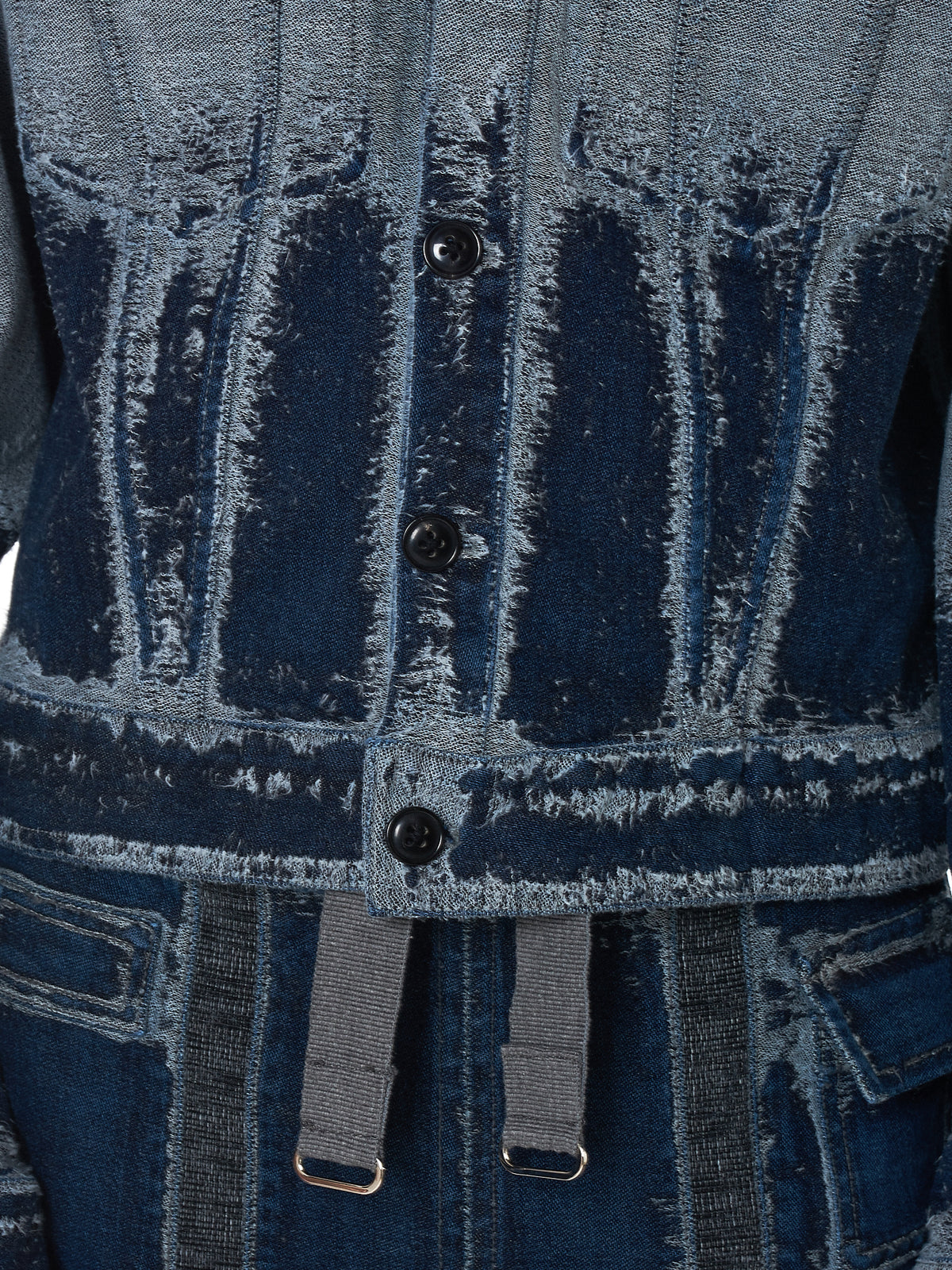 PRONOUNCE Denim Jacket - Hlorenzo Detail 2