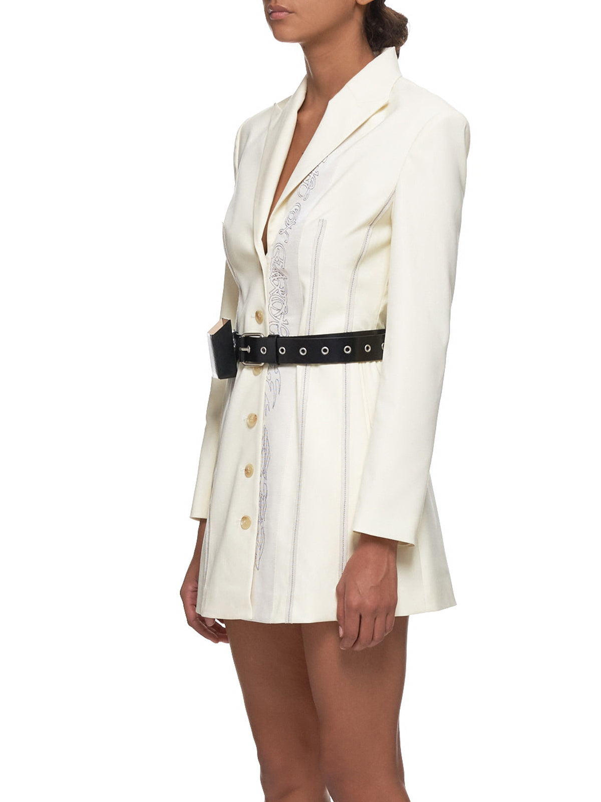 Embroidered Jacket Dress (JK2W-OFFWHITE)