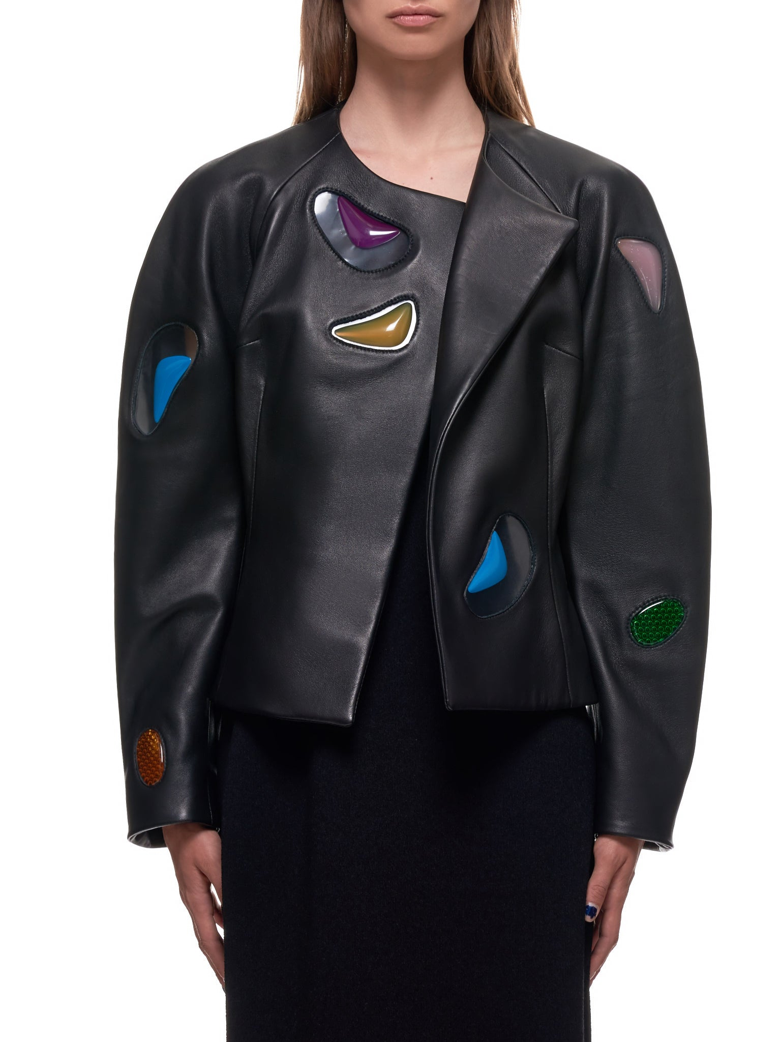 Christopher Kane Leather Jacket | H.Lorenzo Front