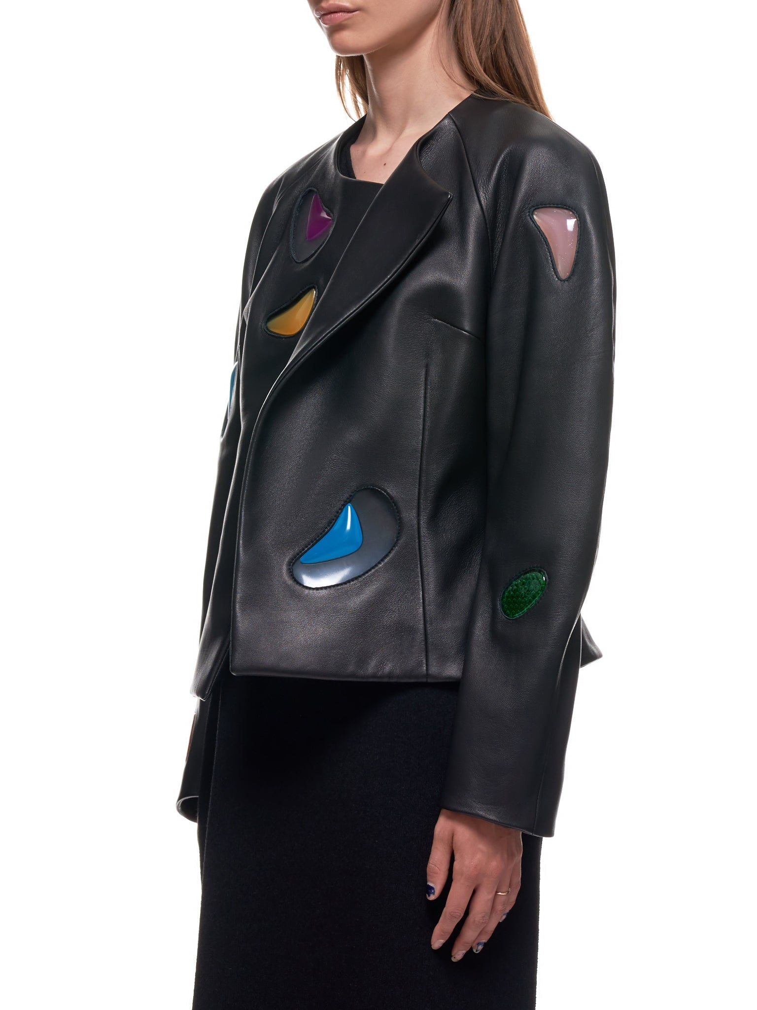 Christopher Kane Leather Jacket | H.Lorenzo Side