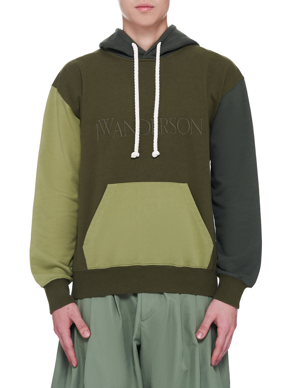 Color Block Hoodie (JO0003-GREEN)