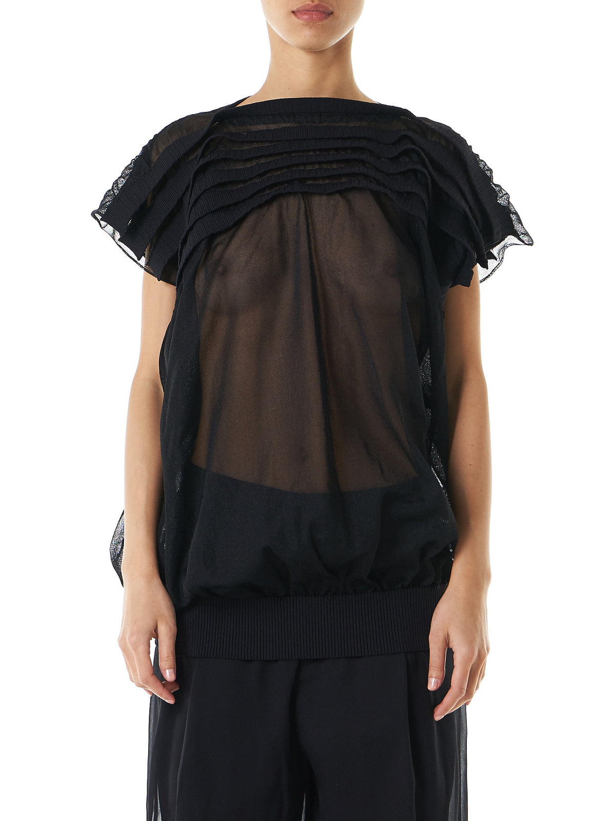 Tiered 'Shutter' Blouse (JS-N016-051-1) - H. Lorenzo
