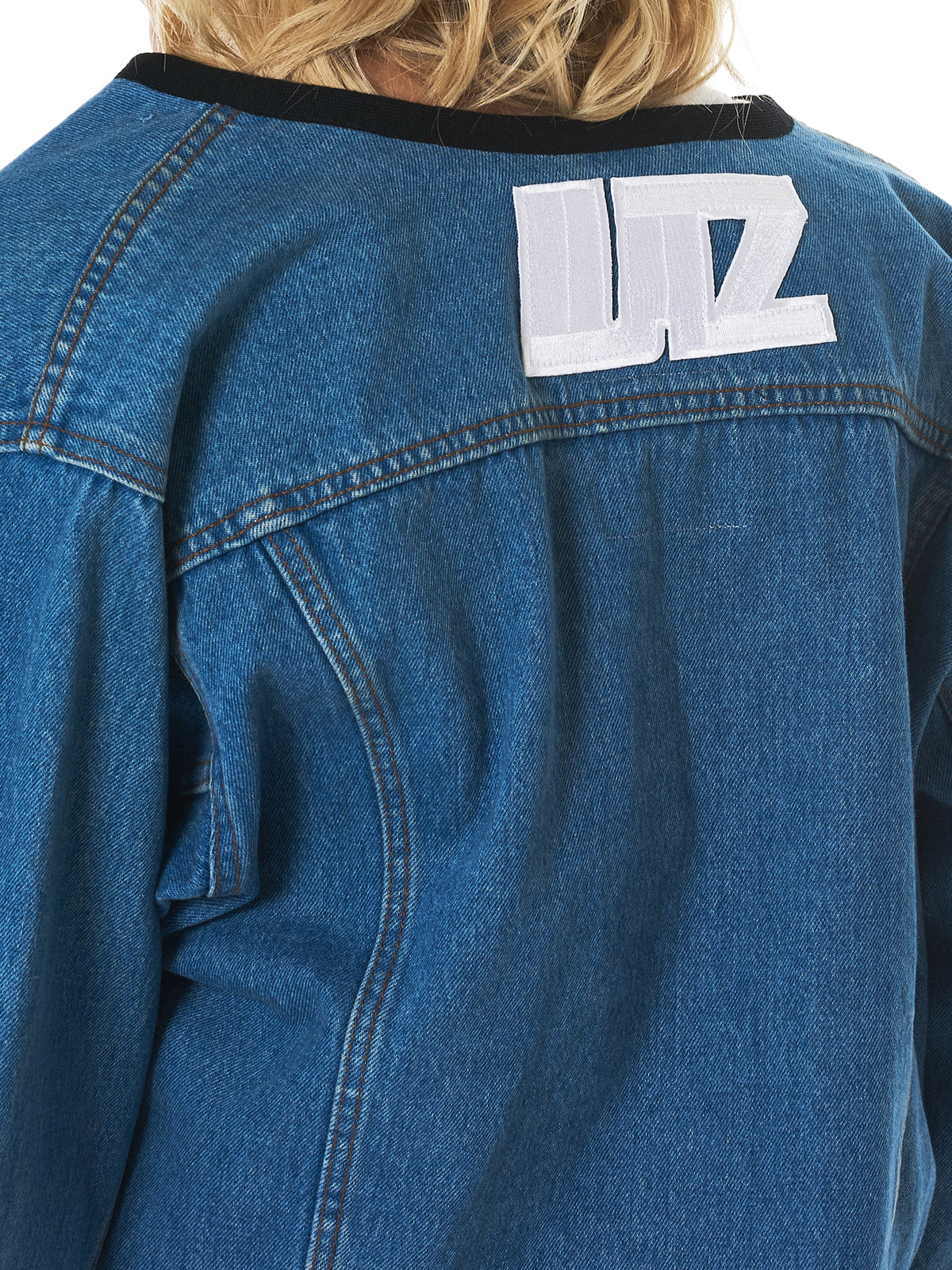 Lutz Huelle Denim Jacket - Hlorenzo Detail 2