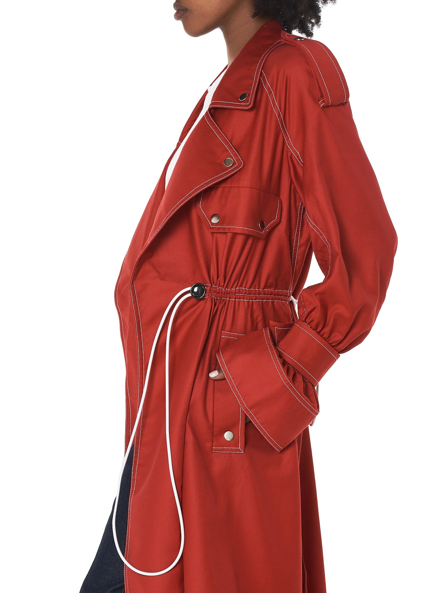'Tanja' Trench Coat (JS18C01-C-RED)