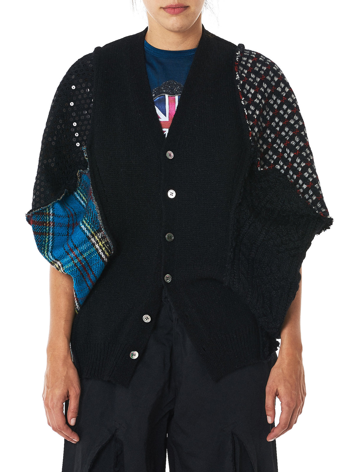 Sequined Assemblage Cardigan (JT-N010-051-1)