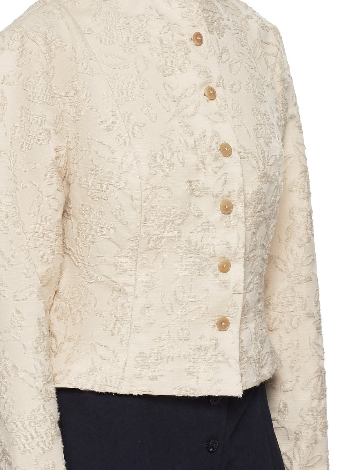 Cropped Jacket (JW102C-FLO-NATURAL)
