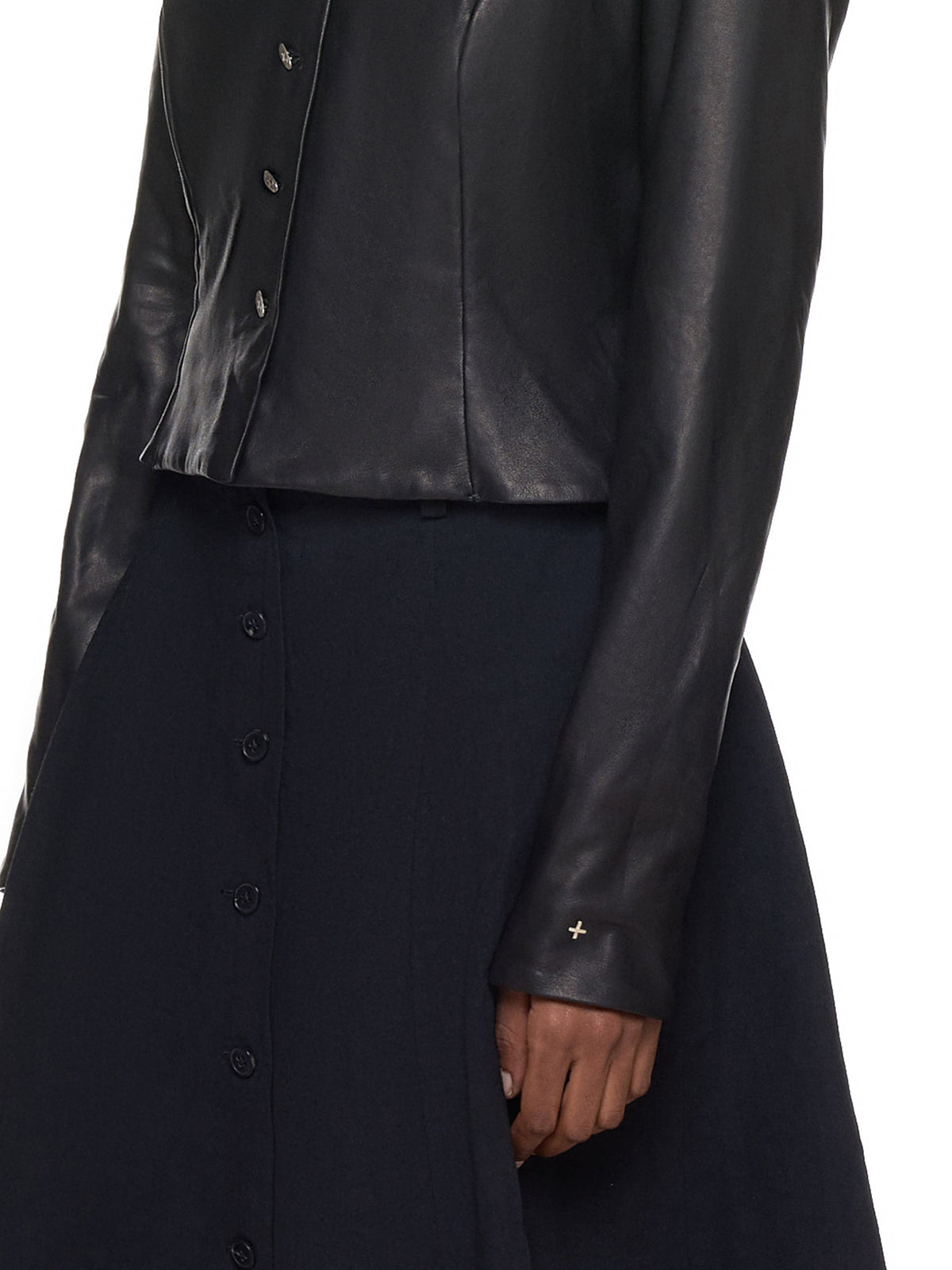 Ma+ Leather Jacket - Hlorenzo Detail 2