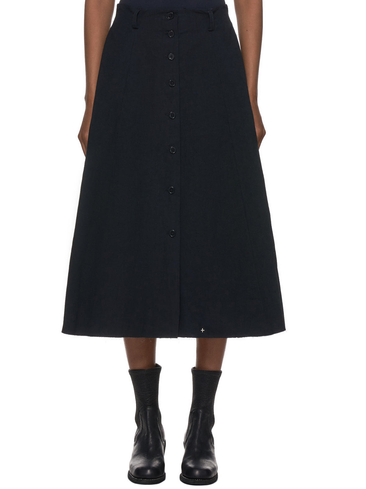 Wide-Hem Skirt (K103-CRL1-BLACK)