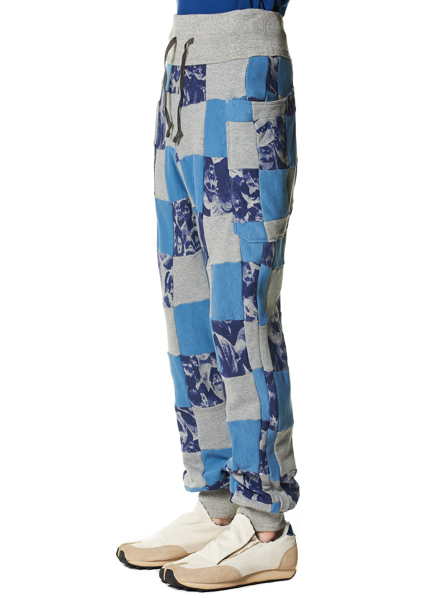 Checkered Patchwork Sweatpants (K1412LP73 PURPLE) - H. Lorenzo
