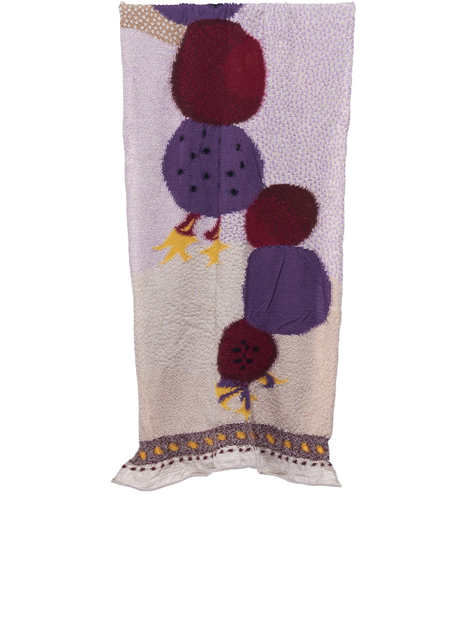 Textured Cactus Scarf (K1809XG500-PURPLE)