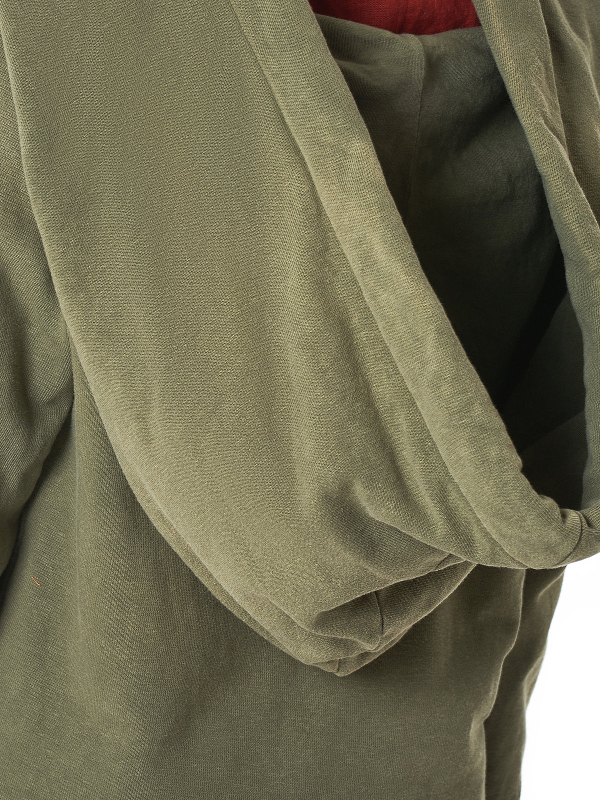Exaggerated Hooded Pullover (K1810LC109-KHAKI)