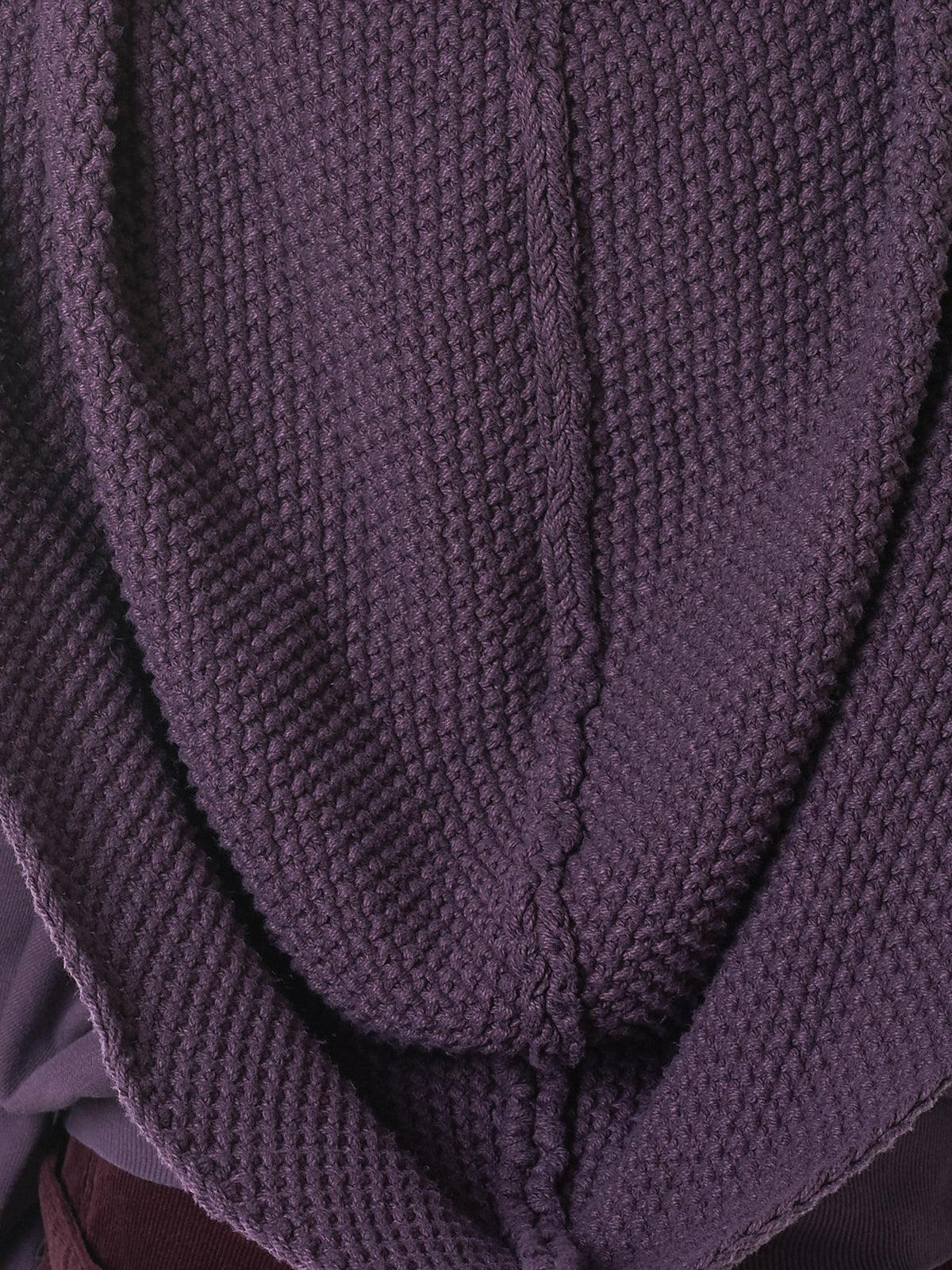 Exaggerated Hood Pullover (K1810LC112-PURPLE)