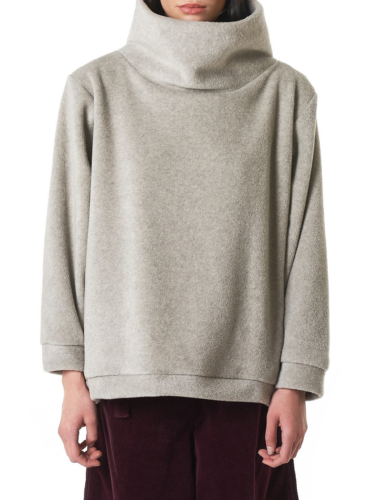 Funnel-Neck Pullover (K1810LC153-NATURAL)
