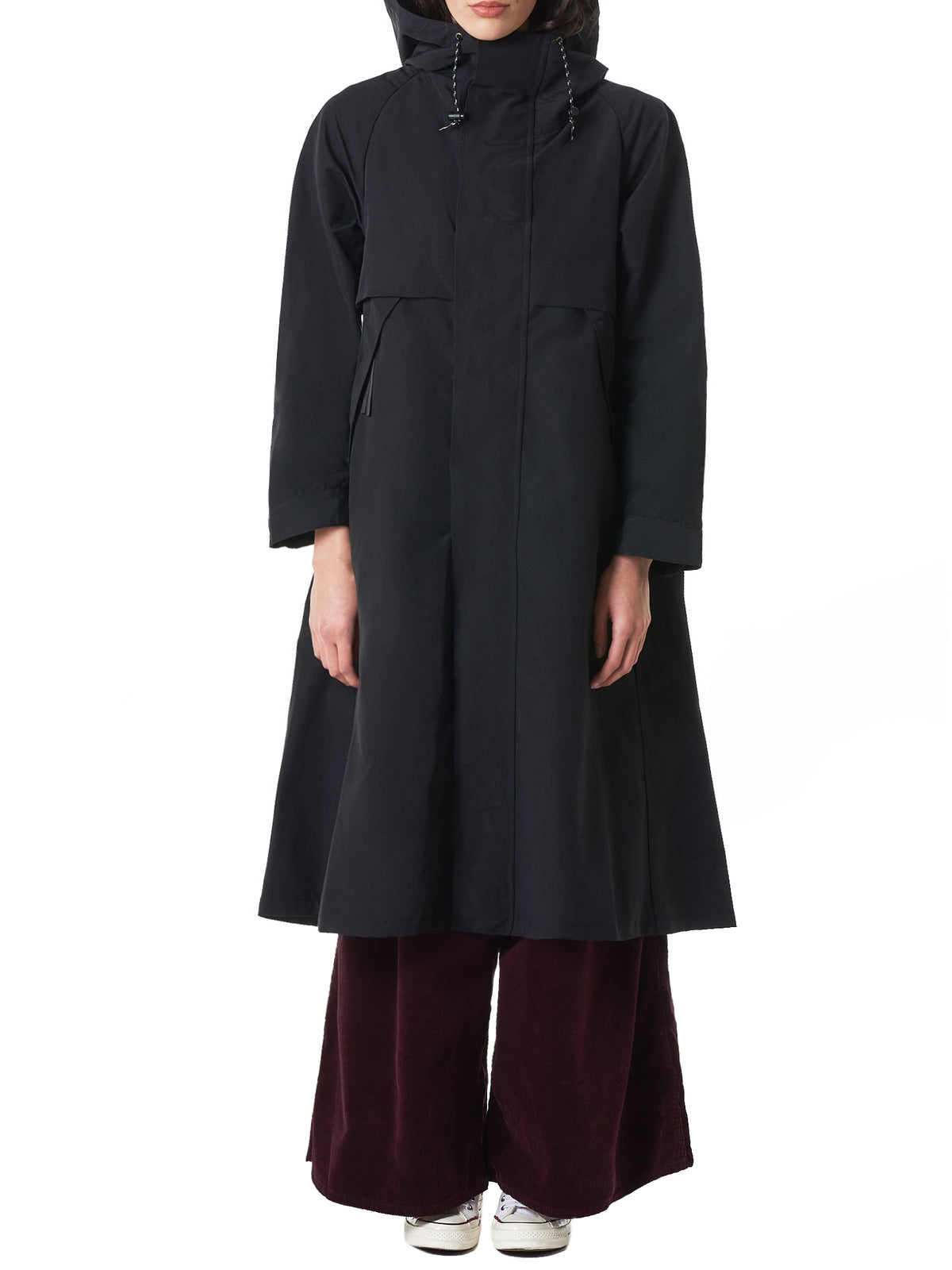 Pleated-Back Parka (K1810LJ136-BLACK)