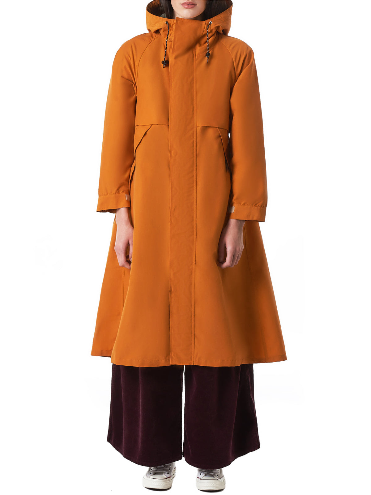 Pleated-Back Parka (K1810LJ136-ORANGE)