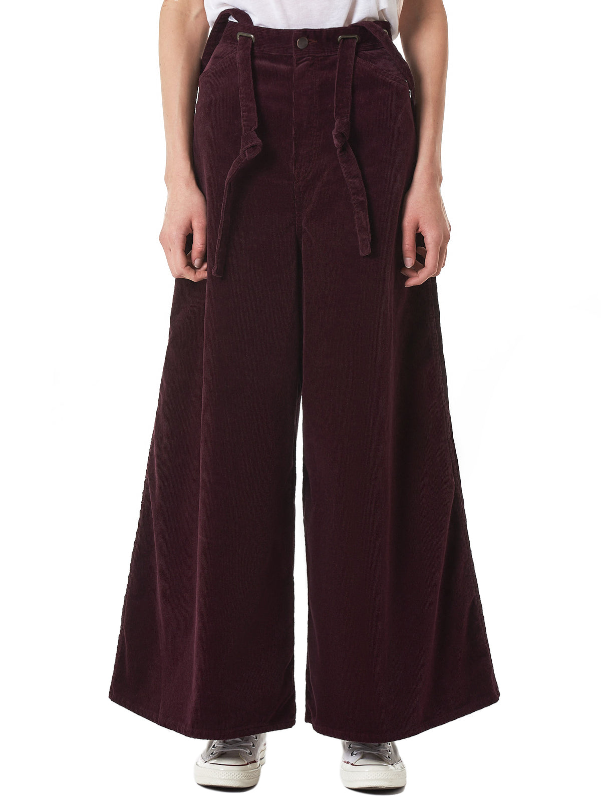 Suspender-Strap Trousers (K1810LP171-WINE)