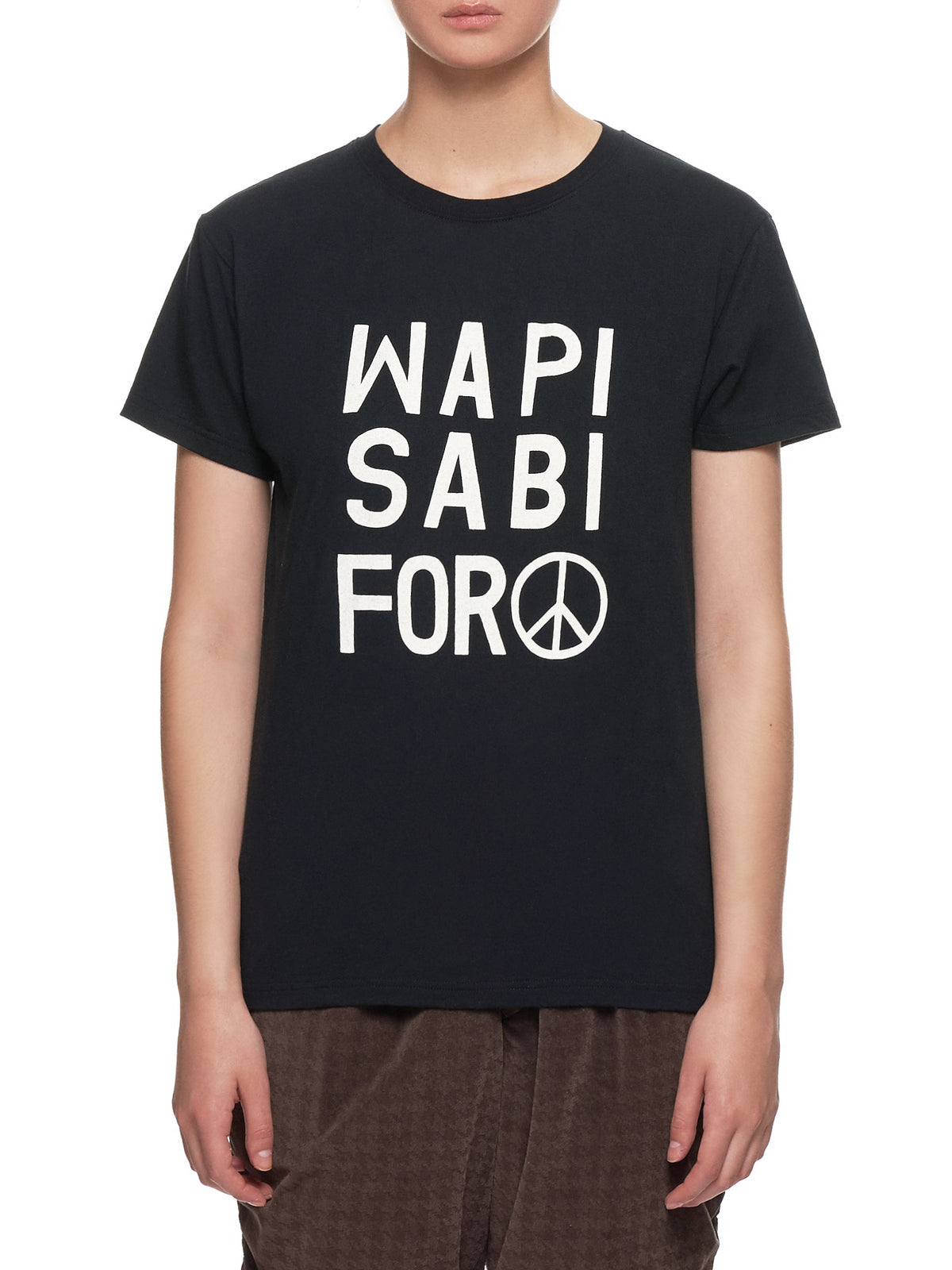 'Wapi Sabi For Peace' T-Shirt (K1903SC075-BLACK)