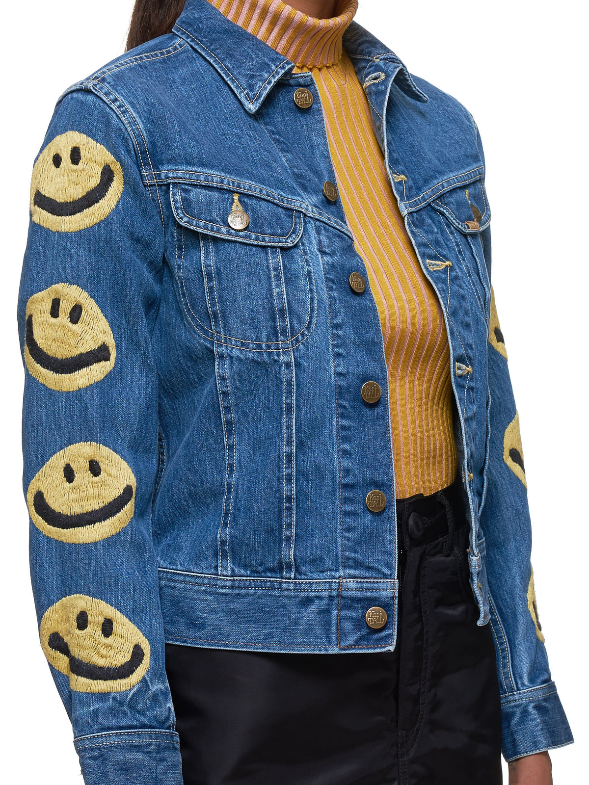 Denim Jacket (K1911LJ825-BLUE-YELLOW)