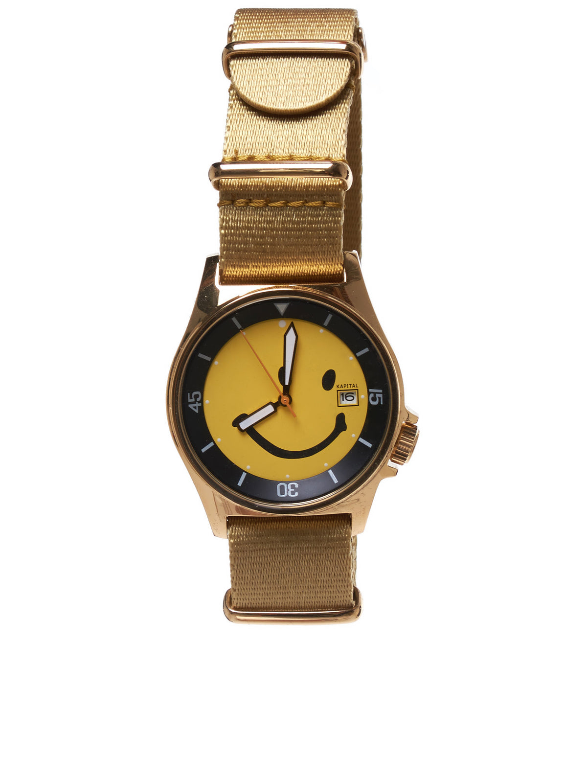 Smiley Face Watch (K1912XG586-GOLD)