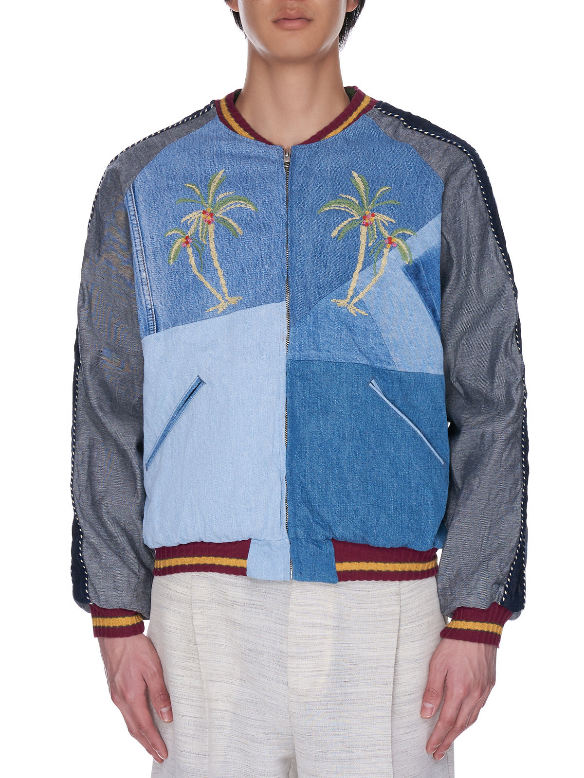Denim Reconstruction Souvenir Jacket (K2103LJ018-INDIGO)