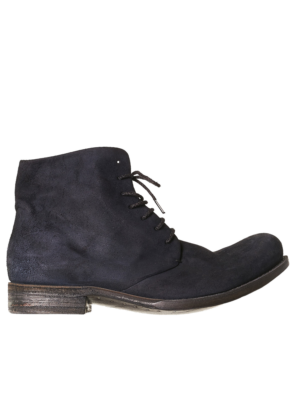 Suede Stacked Boots (K6-KANGAROO-REVERSE-BLK)