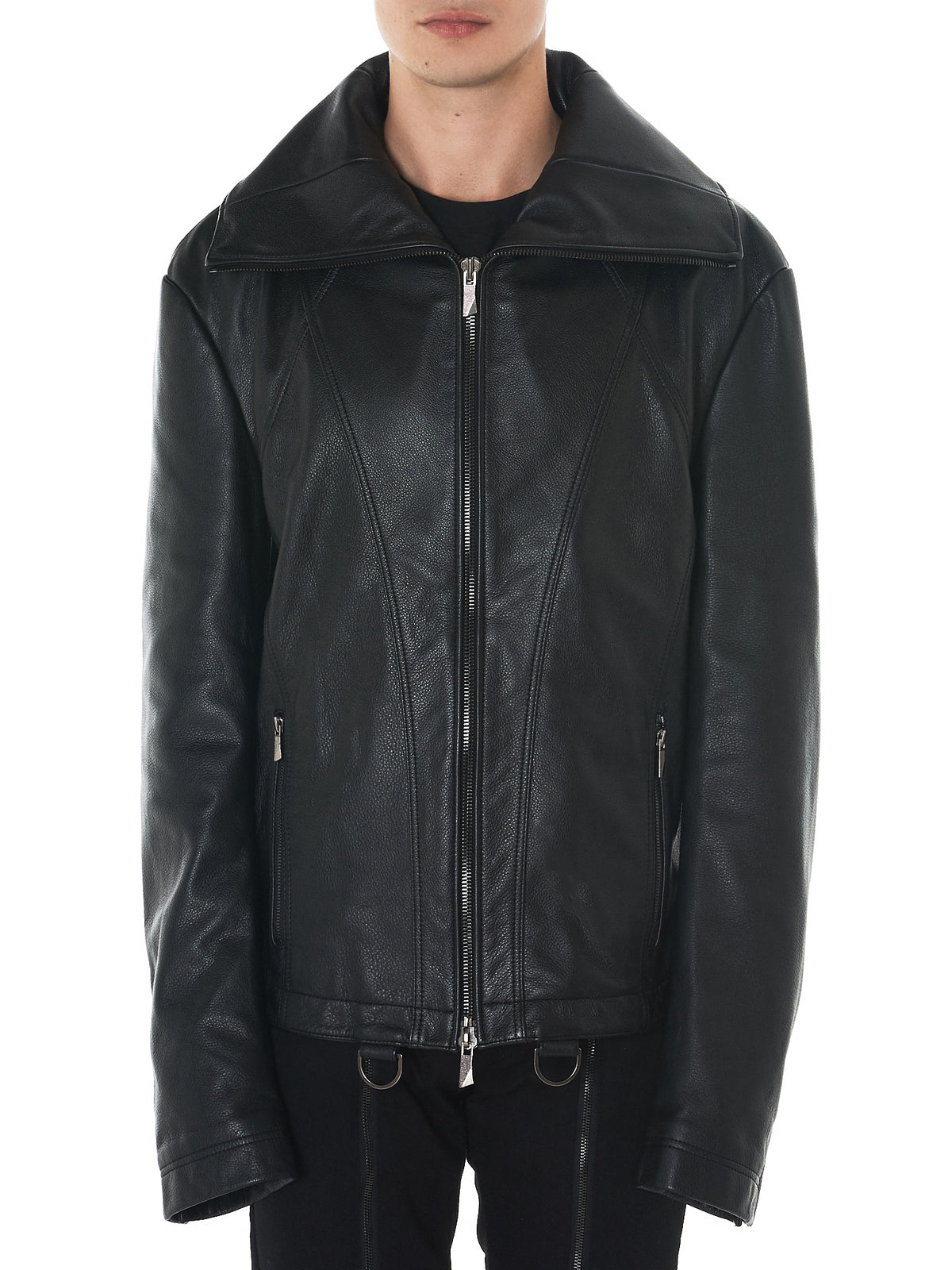 H Lorenzo -D. Gnak leather jacket front