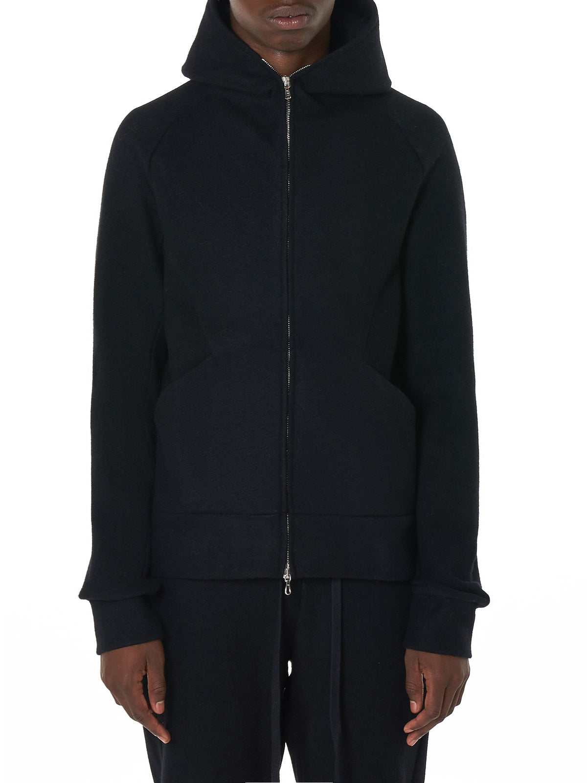 Attachment Black Hoodie - Hlorenzo Front