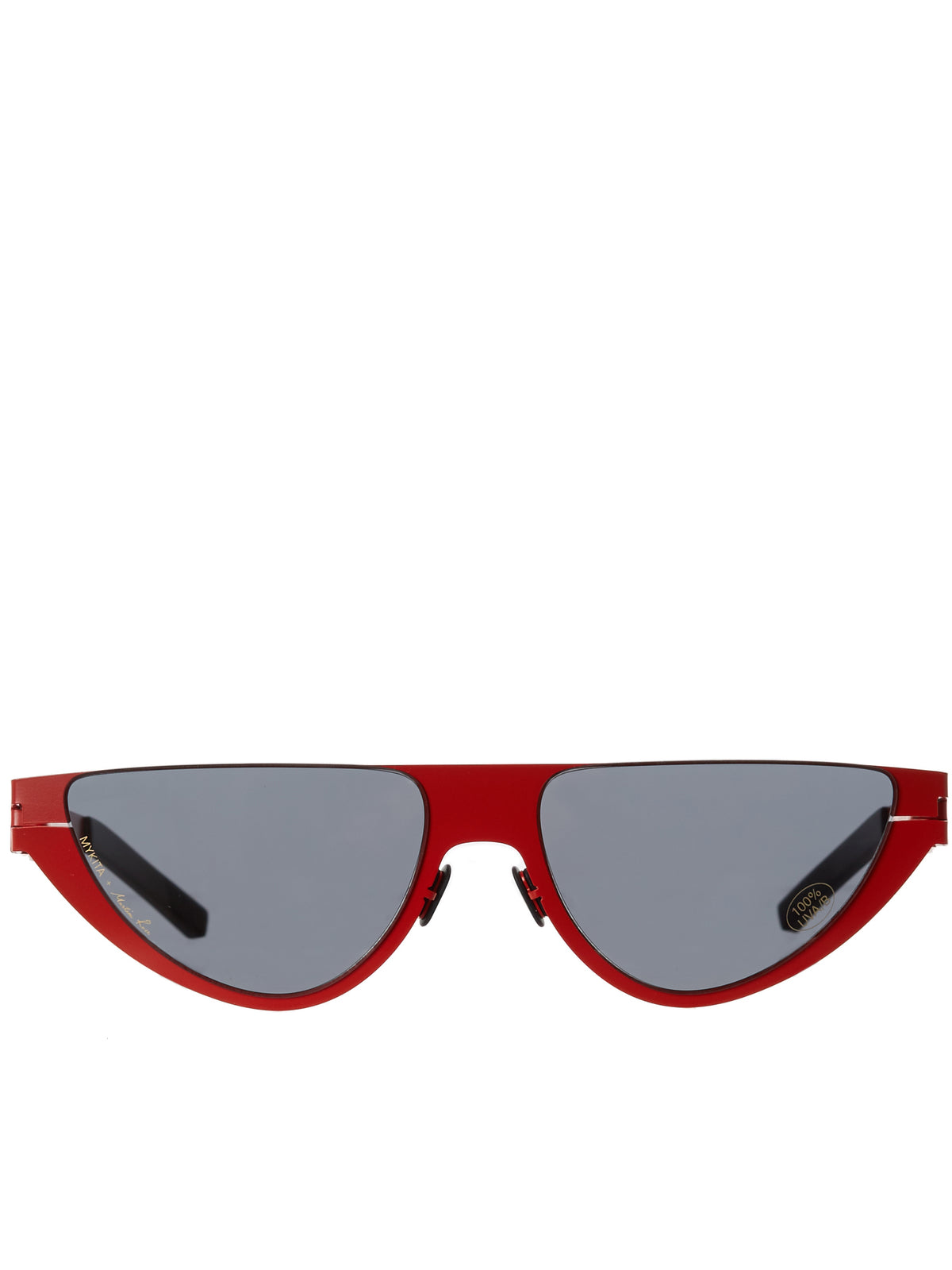 'Kitt' Browless Sunglasses (KITT-ANTIQUERED-DARKGREY)