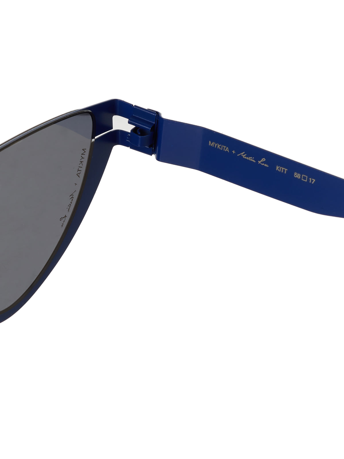 'Kitt' Browless Sunglasses (KITT-INTL-BLUE-DARKGREY)