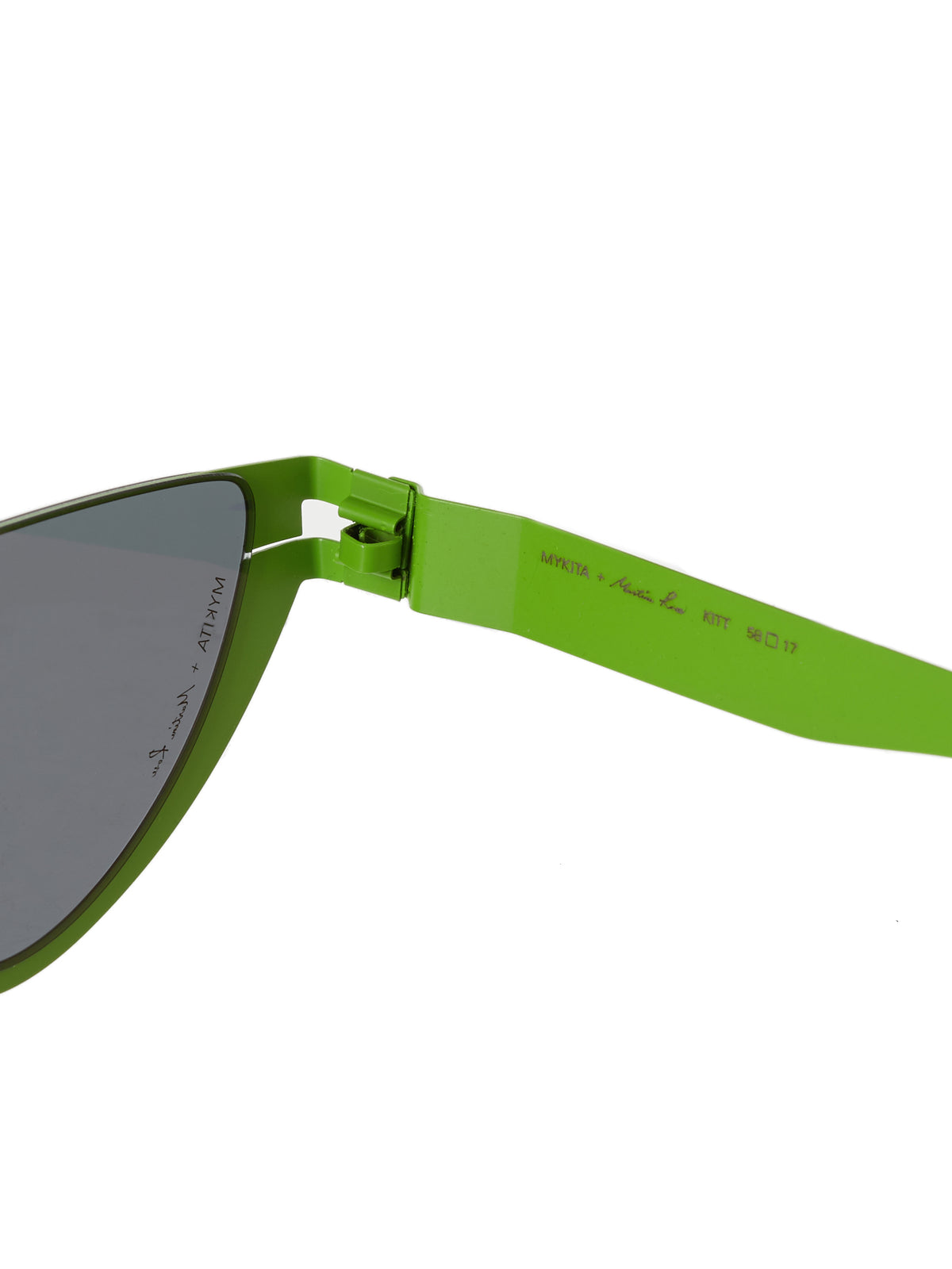 'Kitt' Browless Sunglasses (KITT-NEWLIME-DARKGREY)