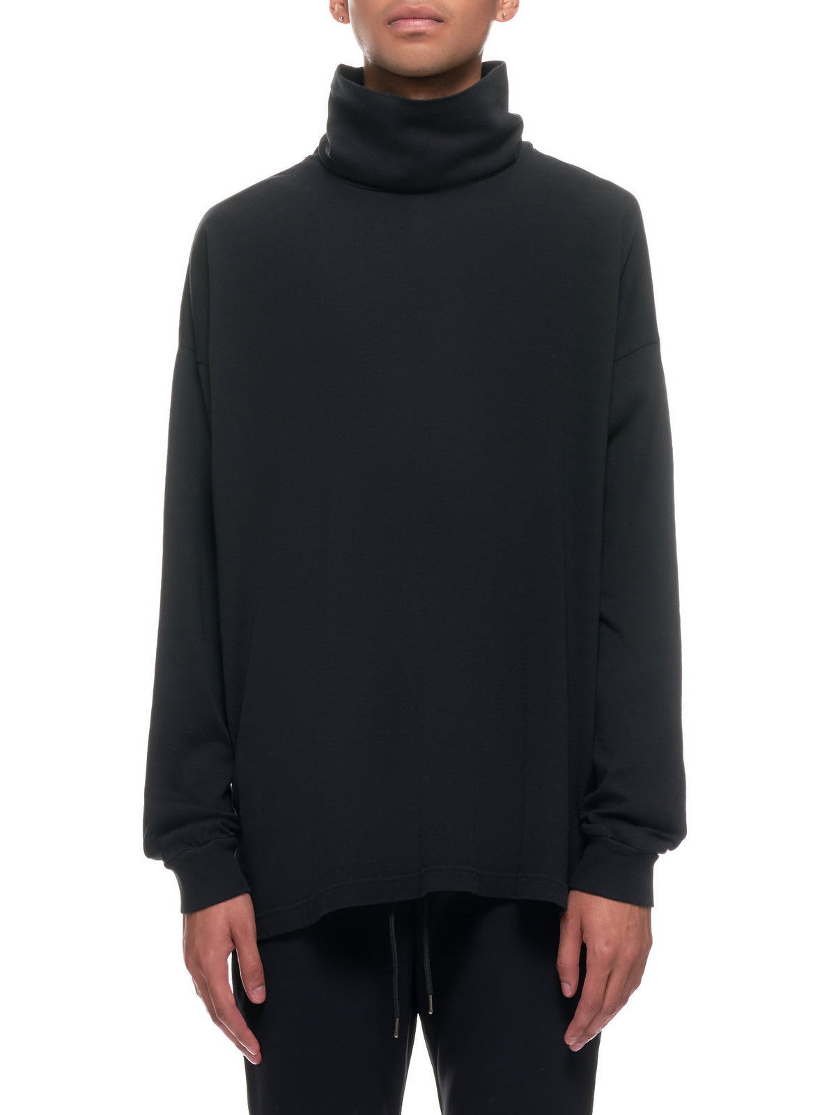 Lightweight Cowl Pullover Sweater (KJ03-003-BLACK)