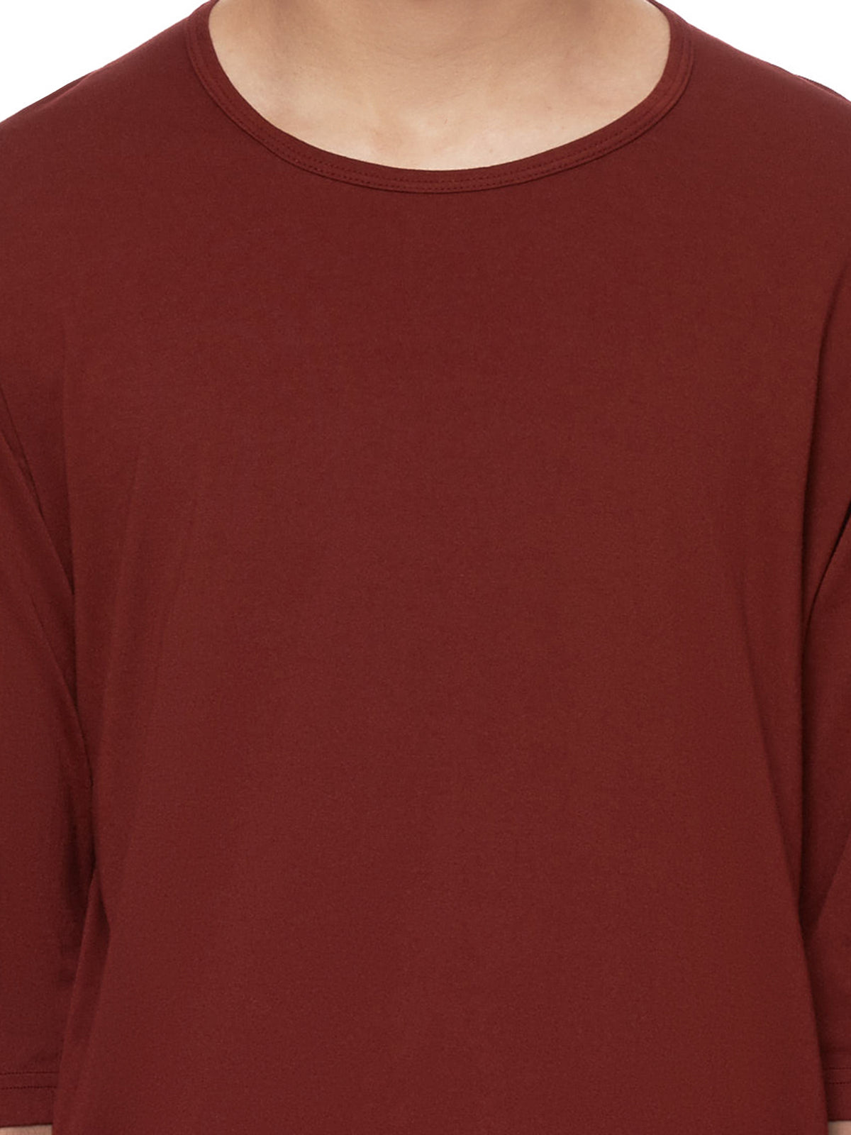 Basic T-Shirt (KJ91-014-BORDEAUX)