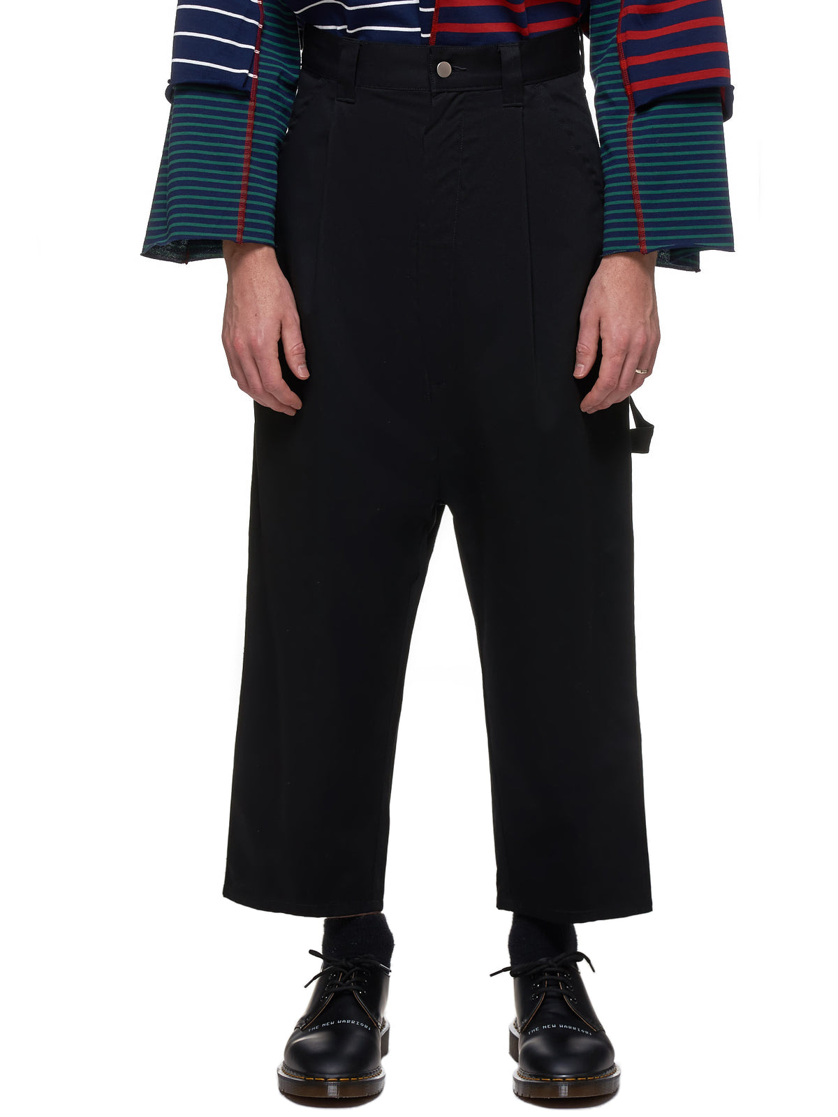Cropped Carpenter Trousers (KL-385-BLACK)