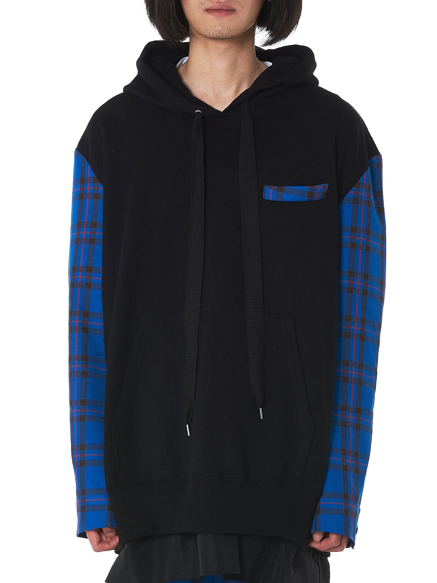 Kidill Check Hoodie - Hlorenzo Front