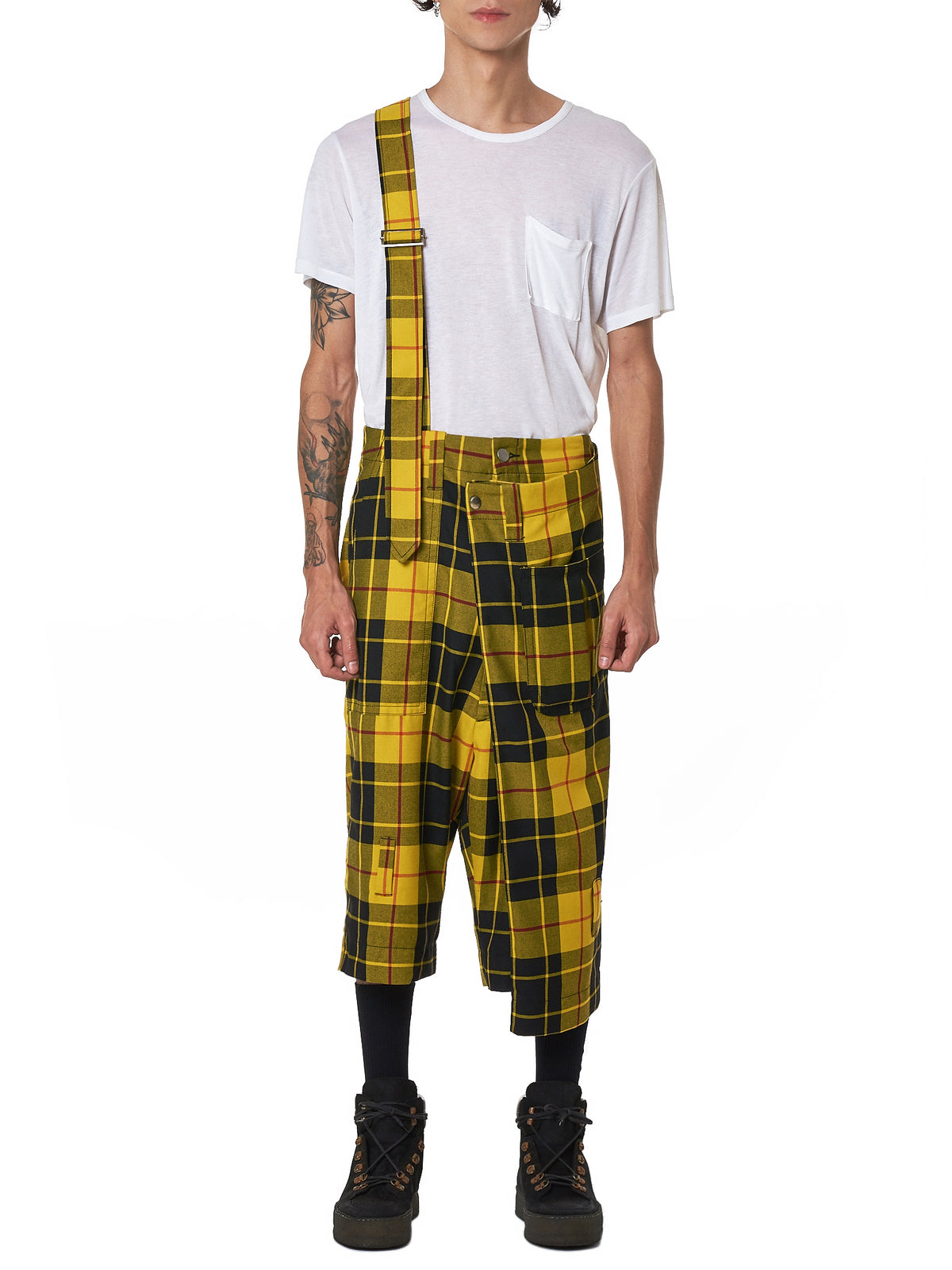 Kidill Check Cropped Pants - Hlorenzo Front