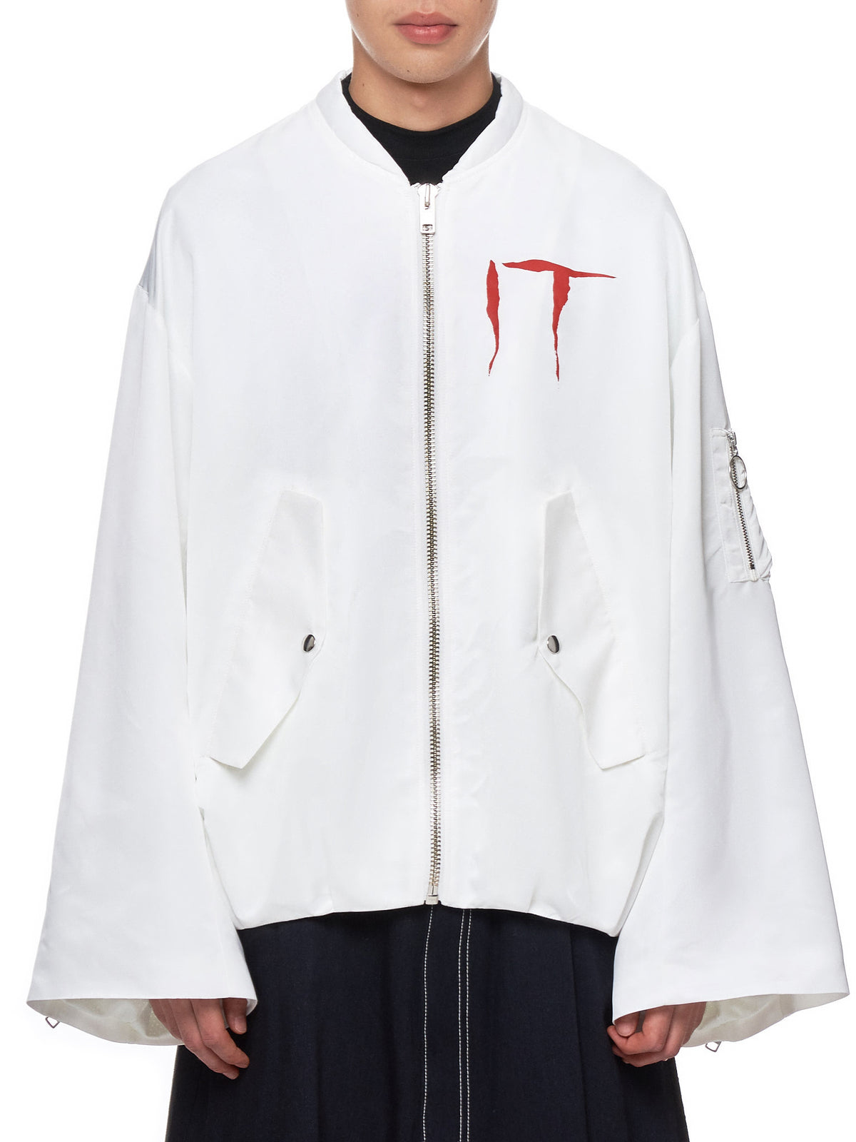 'No Love Lost' Bomber Jacket (KL341-WHITE)