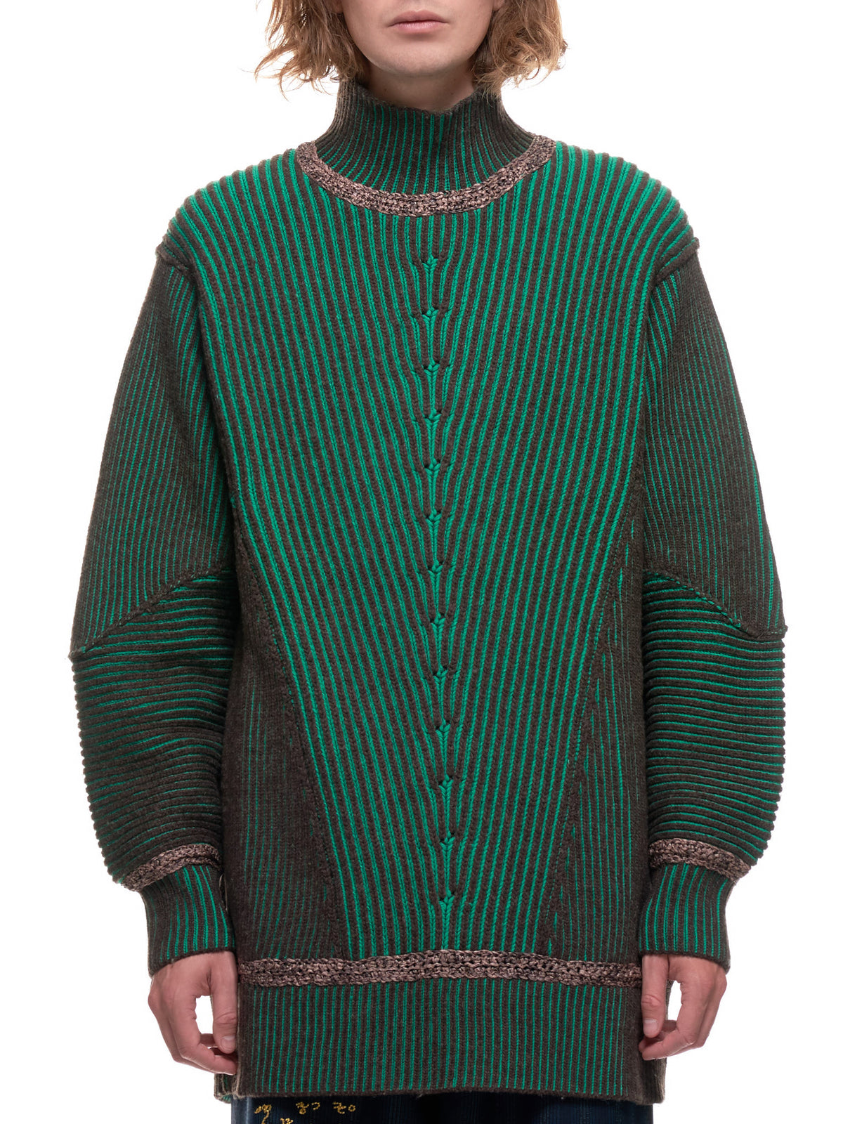 Seta Reversible Sweater (KN-00-BROWN-JADE)