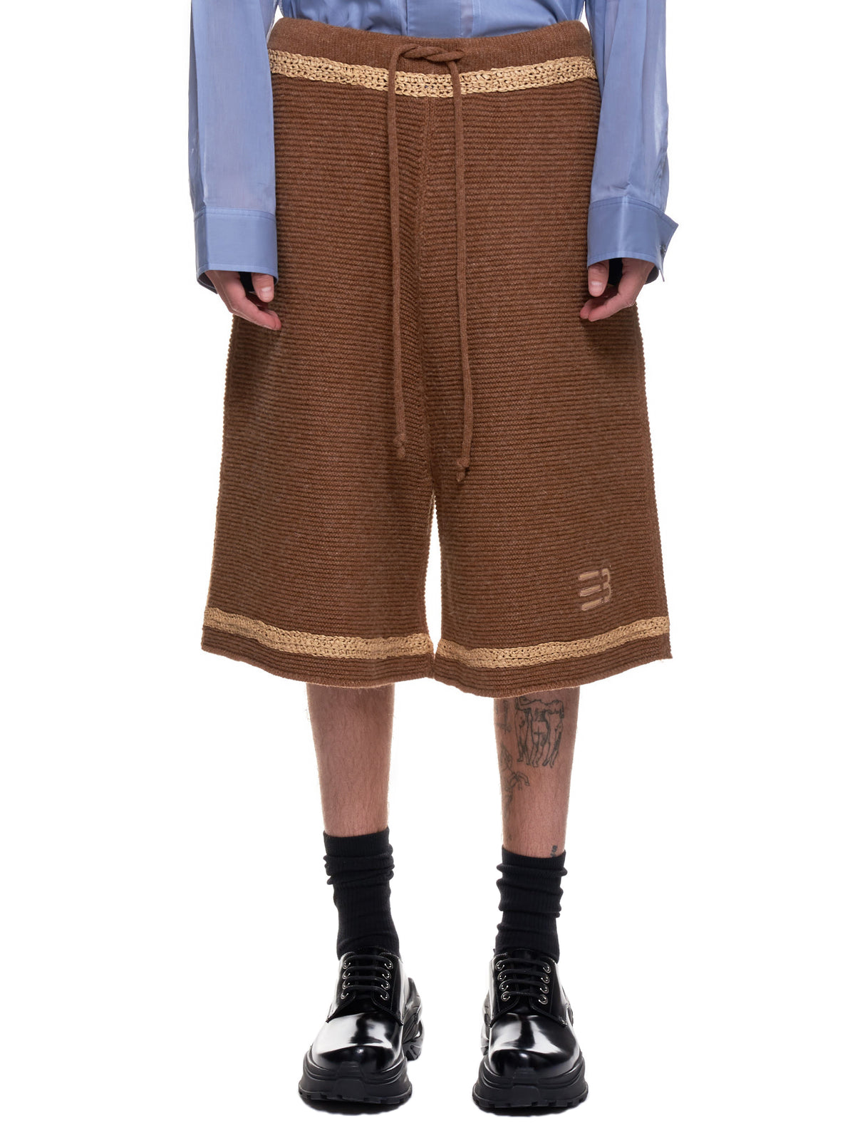 Tobi Heavy Knitted Shorts (KN-04-ST-SAND-TAN)