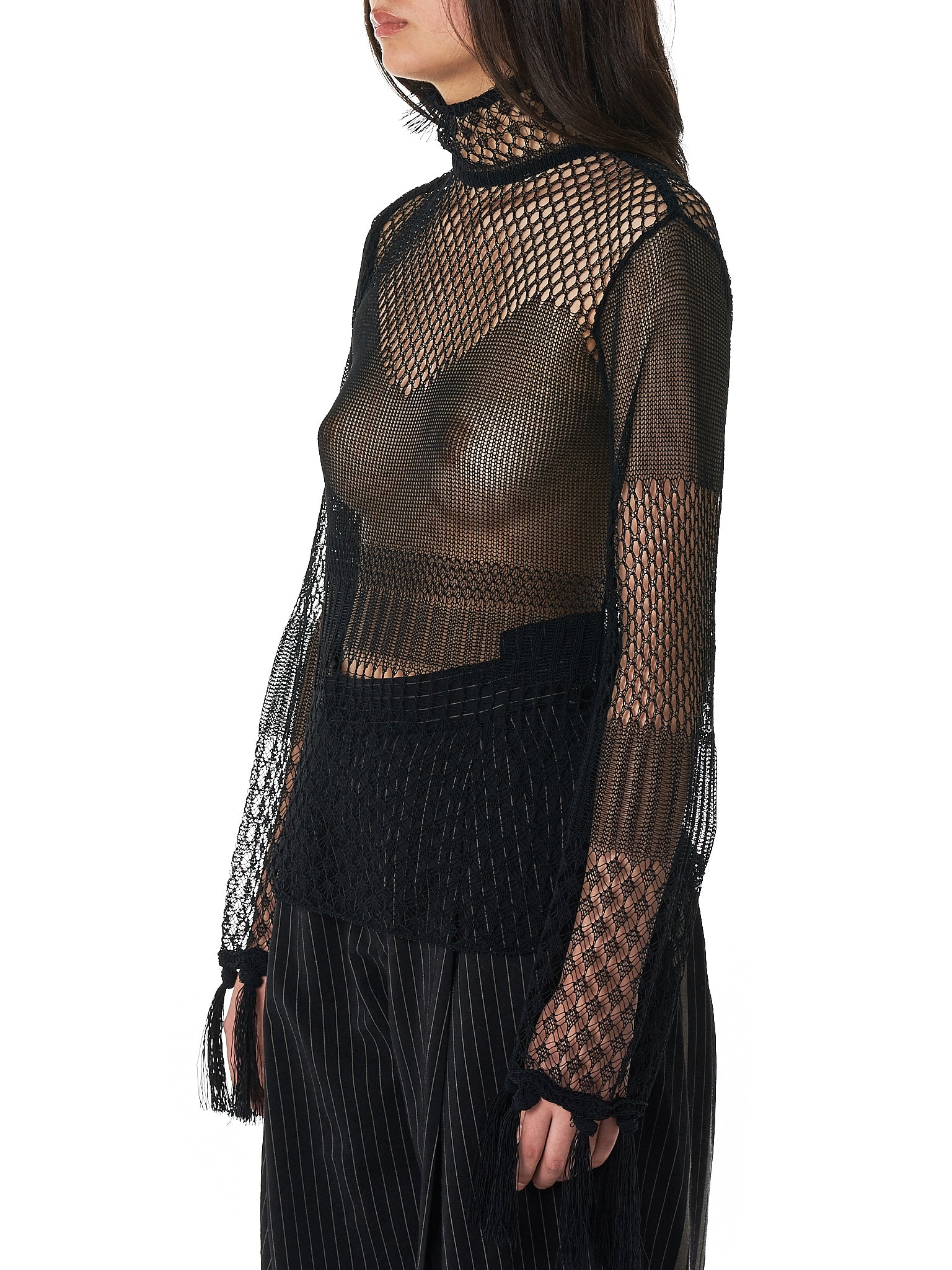 Mame Kurogouchi Fishnet Top - Hlorenzo Side