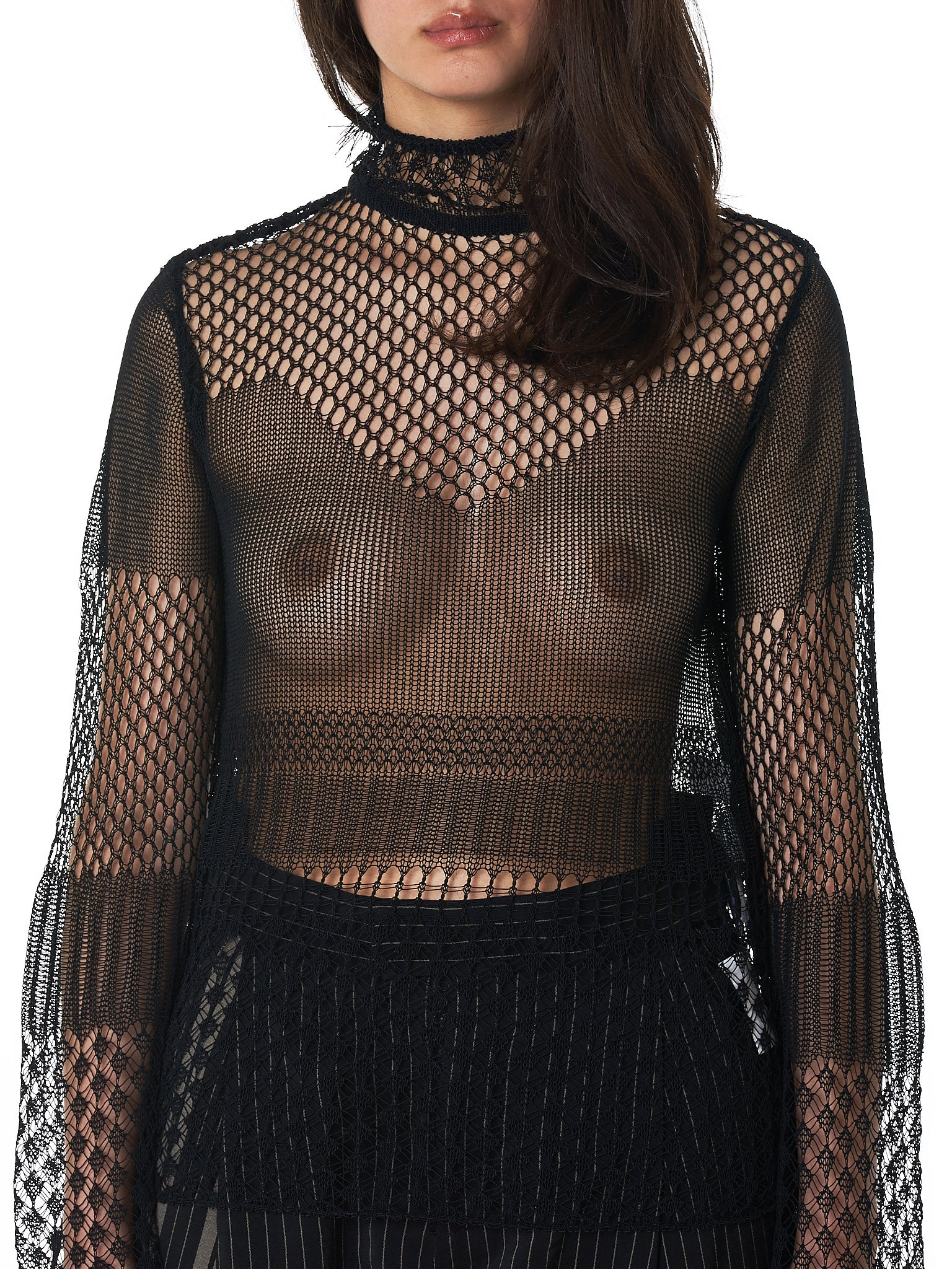 Mame Kurogouchi Fishnet Top - Hlorenzo Detail 3