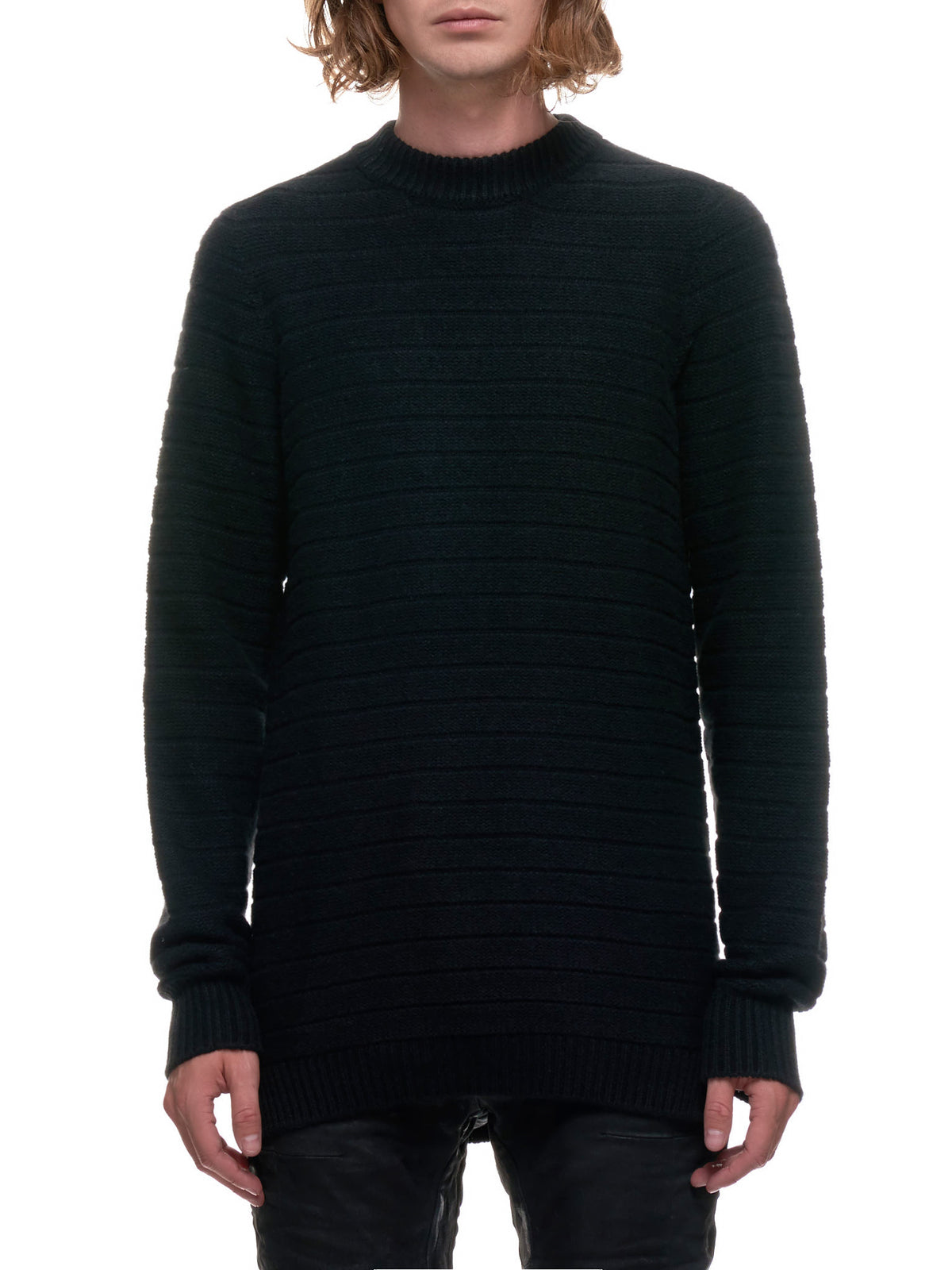 3D Seamless Knitted Sweater (KN5-FPI30003-BLACK)