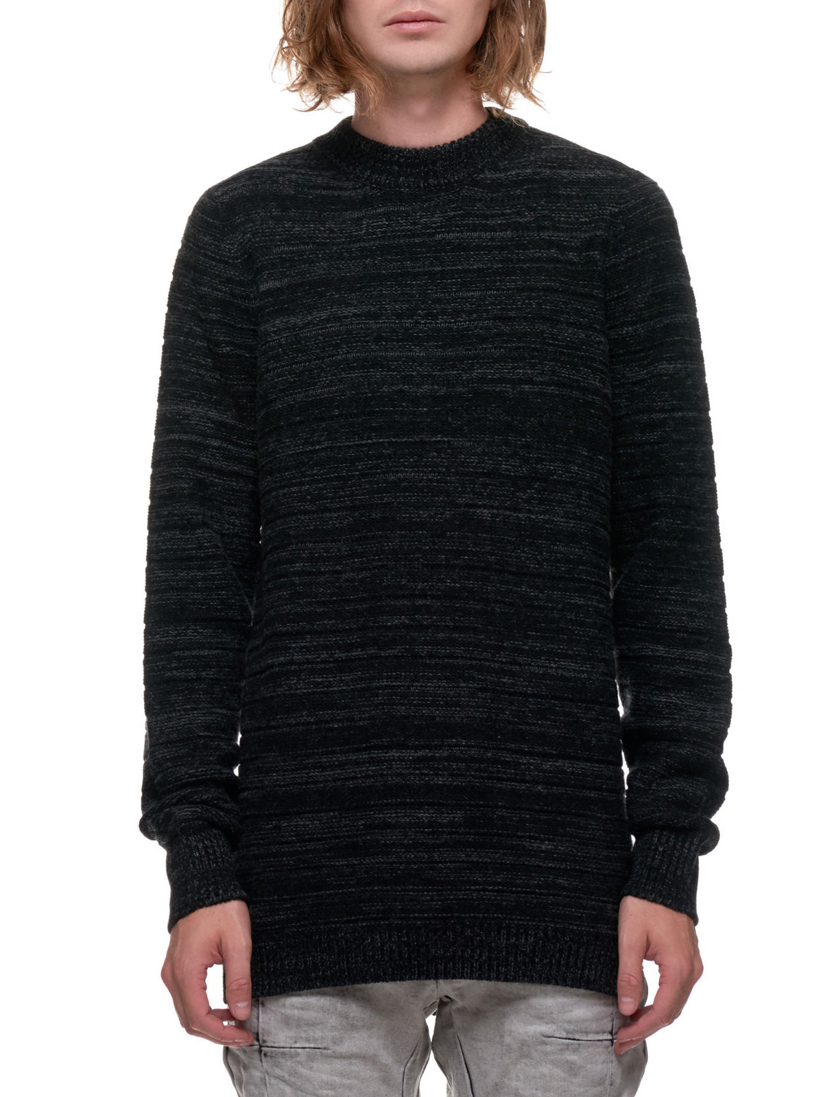 3D Seamless Striped Sweater (KN5-FPI30004-DARK-GREY)