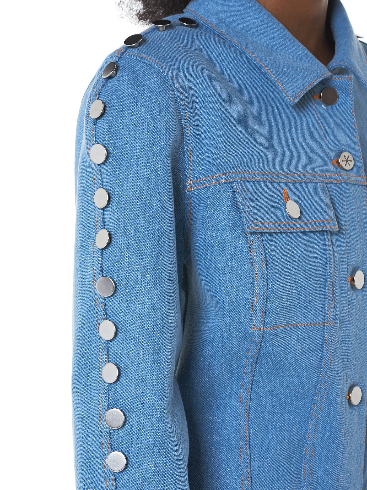 Kreist Denim Jacket - Hlorenzo Detail 1