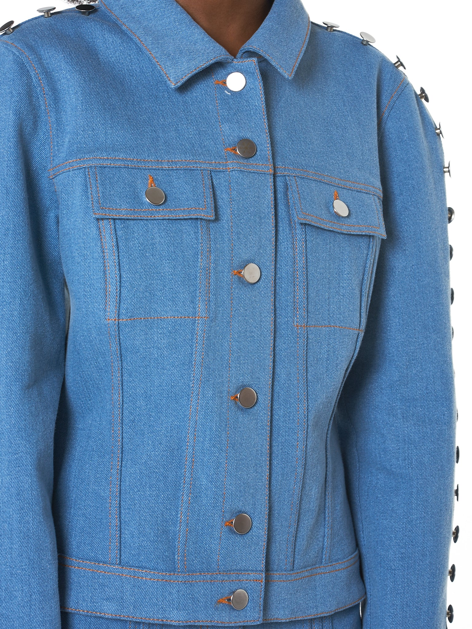 Kreist Denim Jacket - Hlorenzo Detail 4
