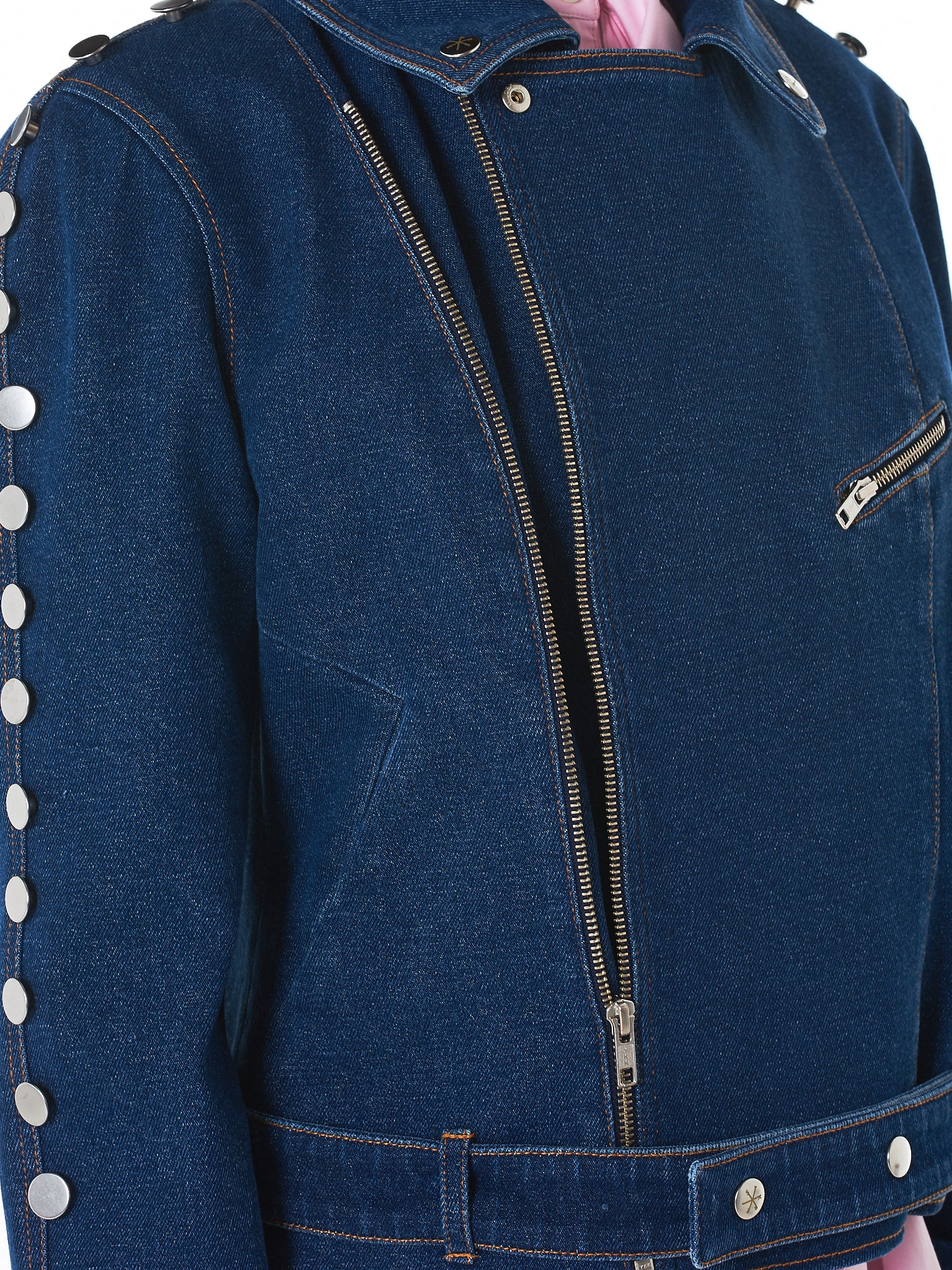Riveted Biker Jacket (KRST-SS18-7-BLUE)