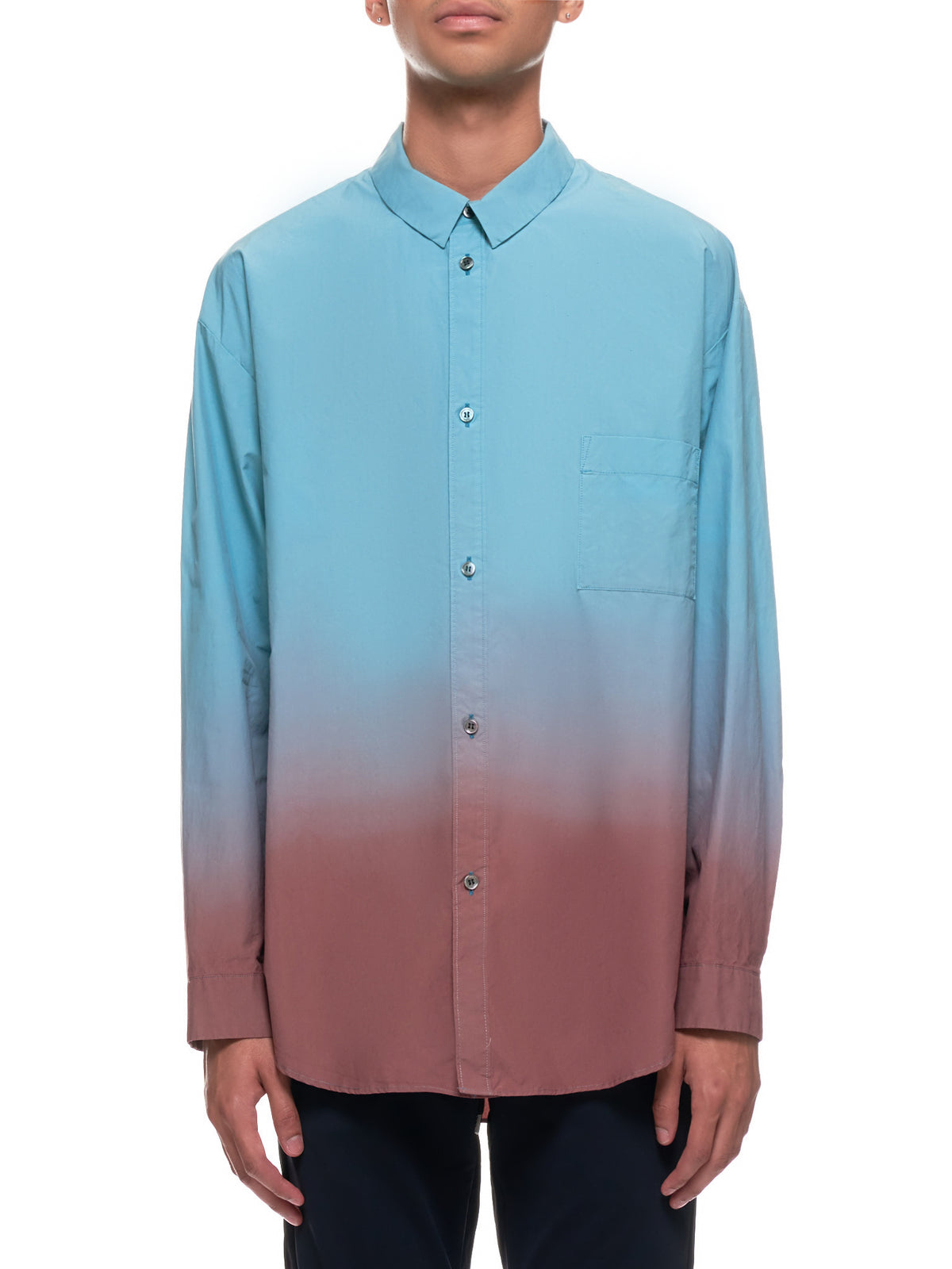 Gradient Shirt (KS03-031-TEAL-BROWN