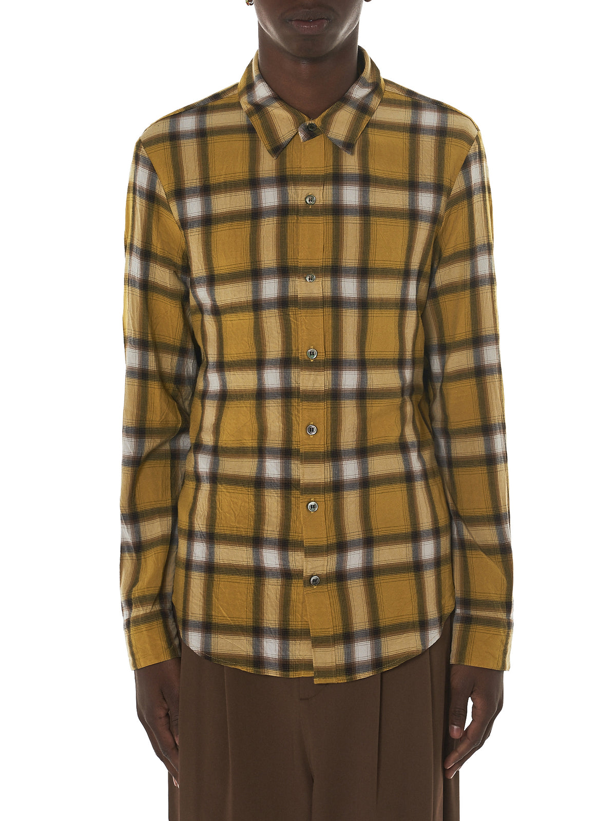 Attachment Kazuyuki Kumagai Plaid Shirt - Hlorenzo Front