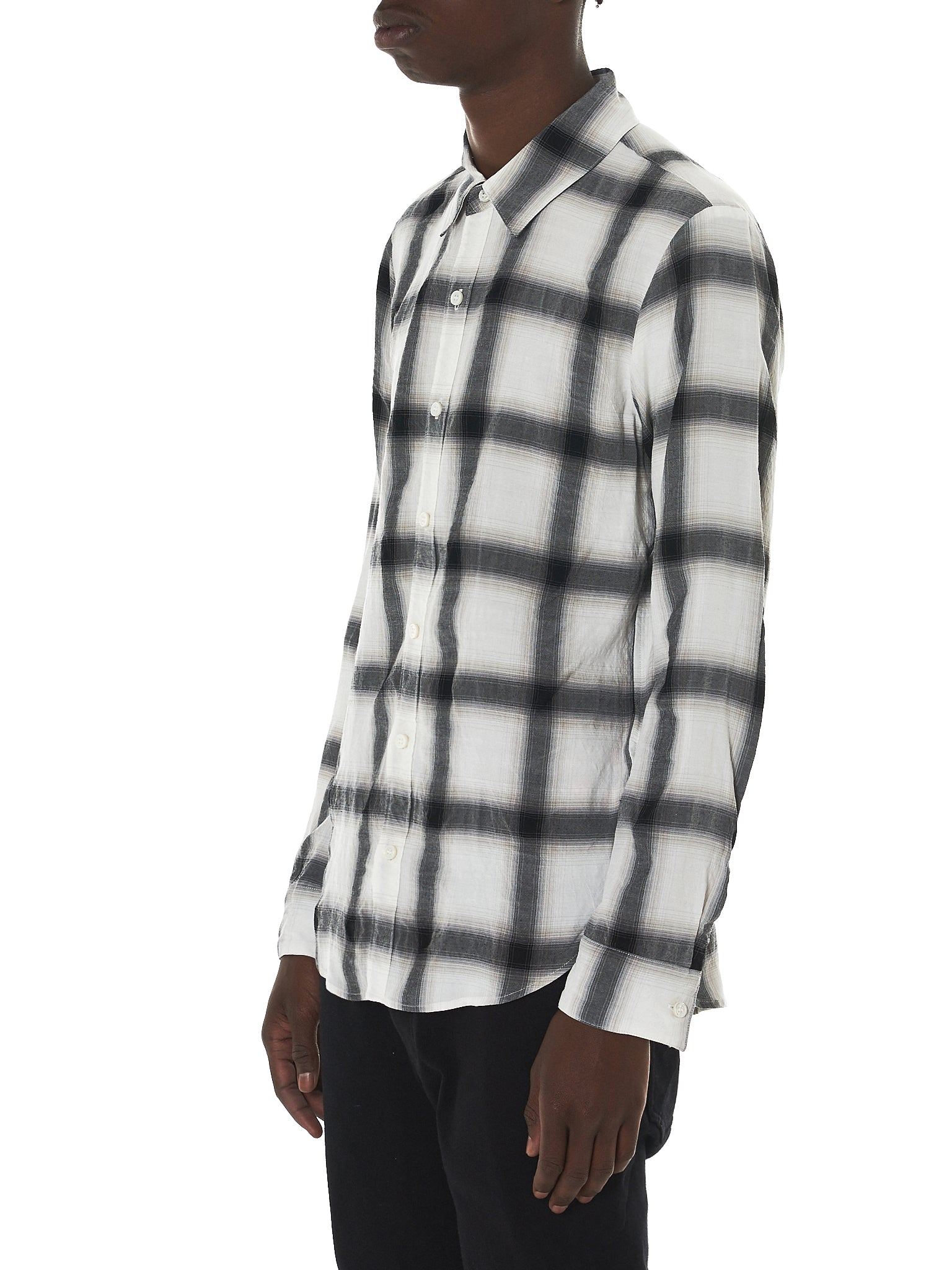 Attachment Kazuyuki Kumagai Plaid Shirt - Hlorenzo Side
